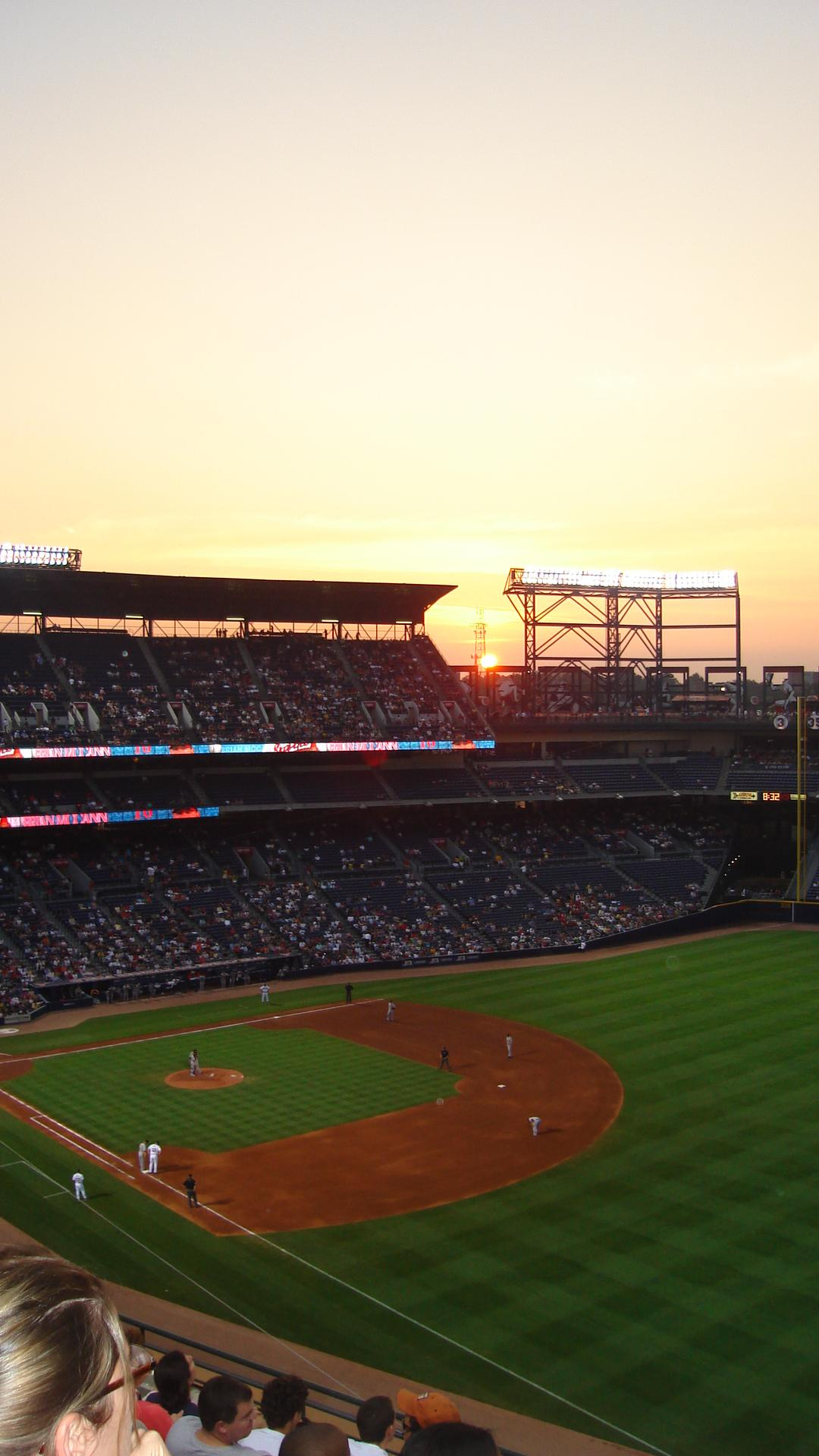 Turner Field Section 430 Row 6 Seat 6
