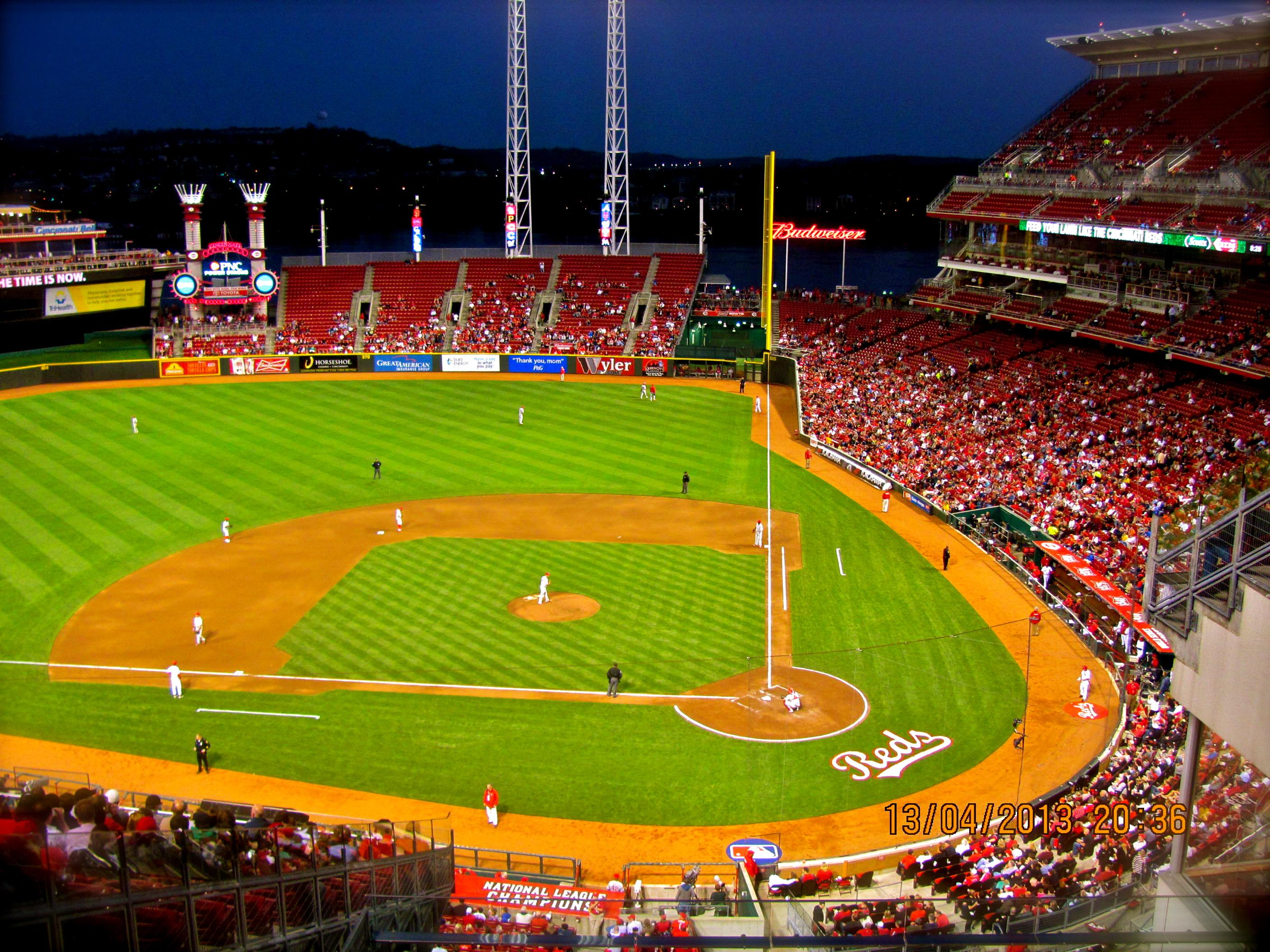 Seat View For Great American Ball Park Standing Room Only Row 1 N