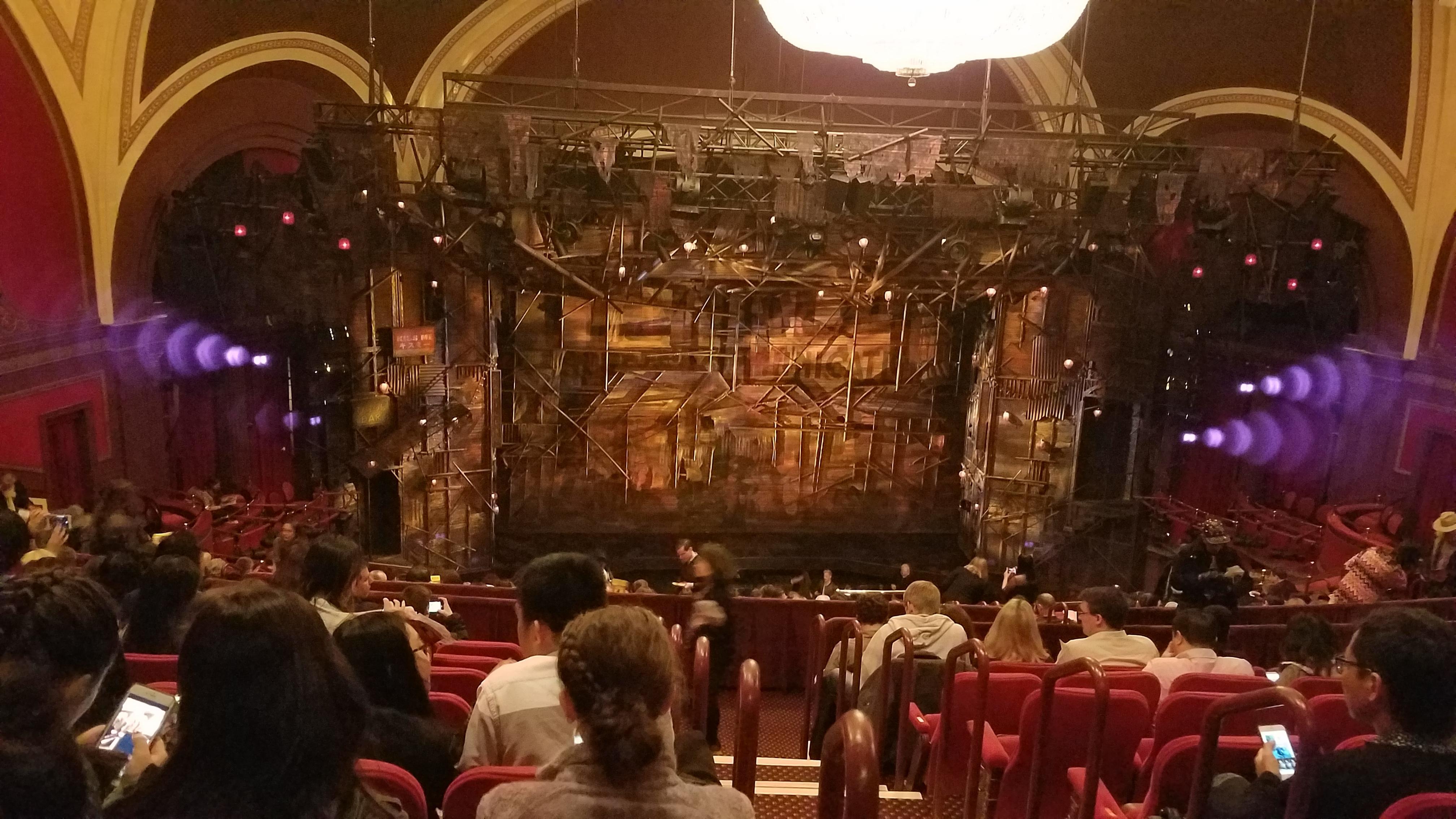 Broadway Theatre - 53rd Street Section Rear Mezzanine LC Row J Seat 102