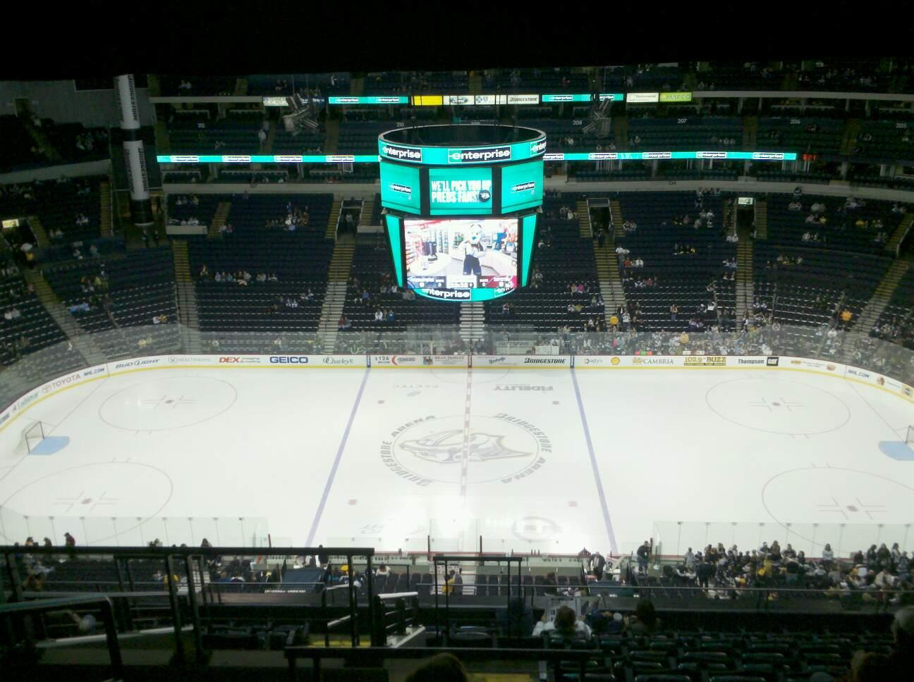 Bridgestone Arena Section 326 Row M Seat 19