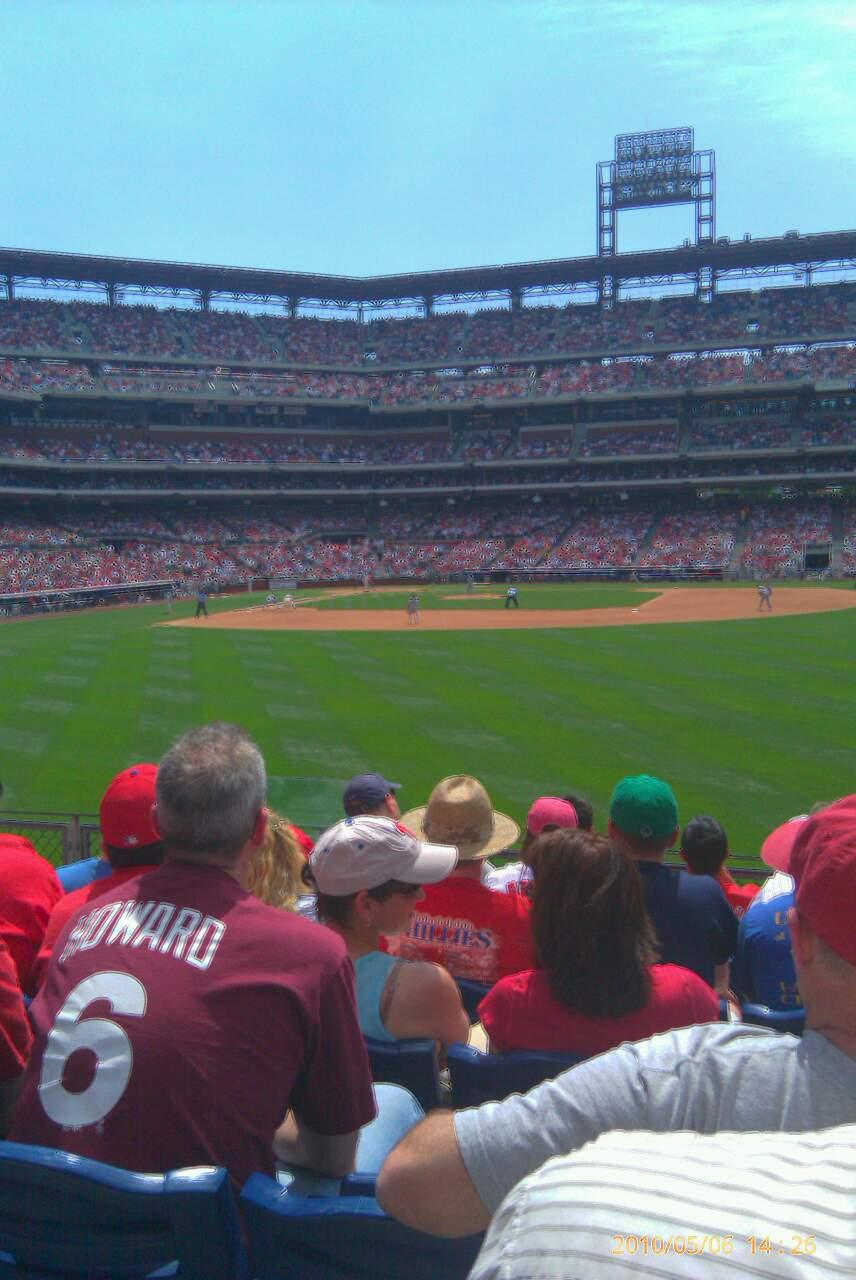 Citizens Bank Park Section 103 Row 7 Seat 17