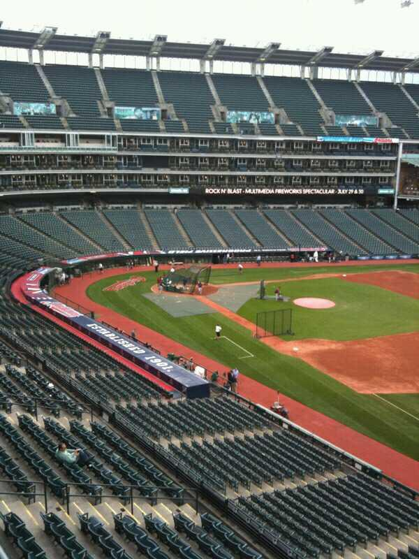 Progressive Field Section Suite 312 Row A Seat 1