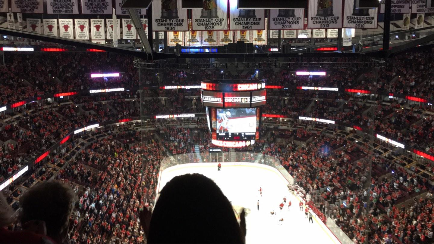 United Center Section 310 Row 16 Seat 8