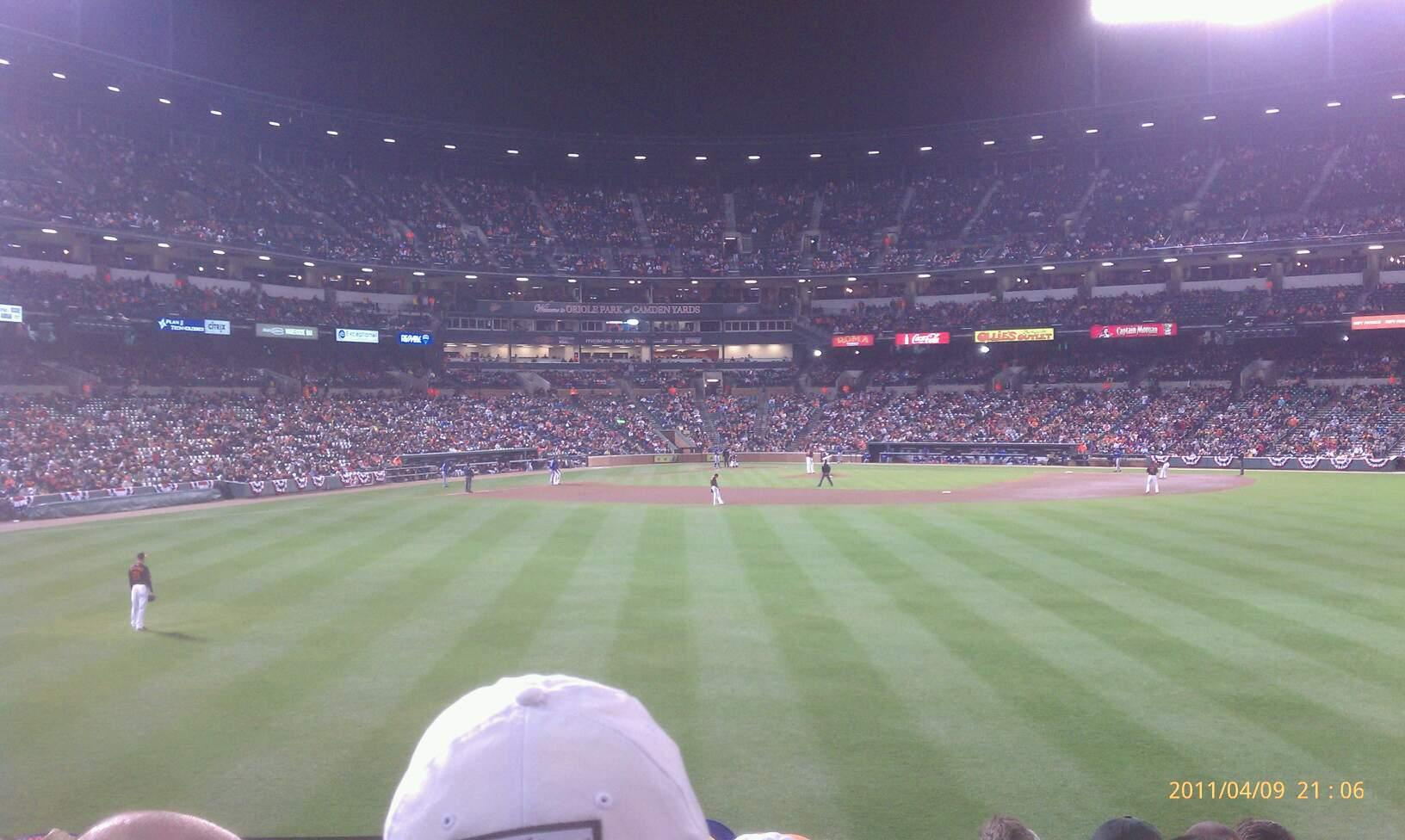 Oriole Park at Camden Yards Section 94 Row 8 Seat 22