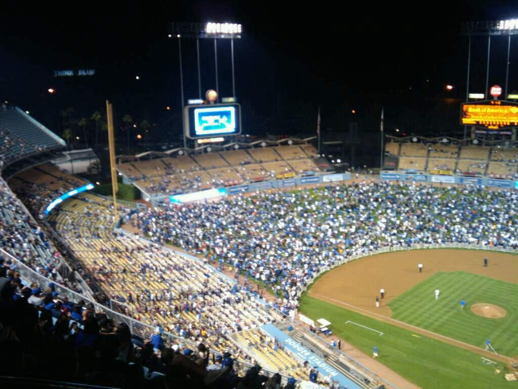 Dodger Stadium Section Top Deck Row P Seat 21
