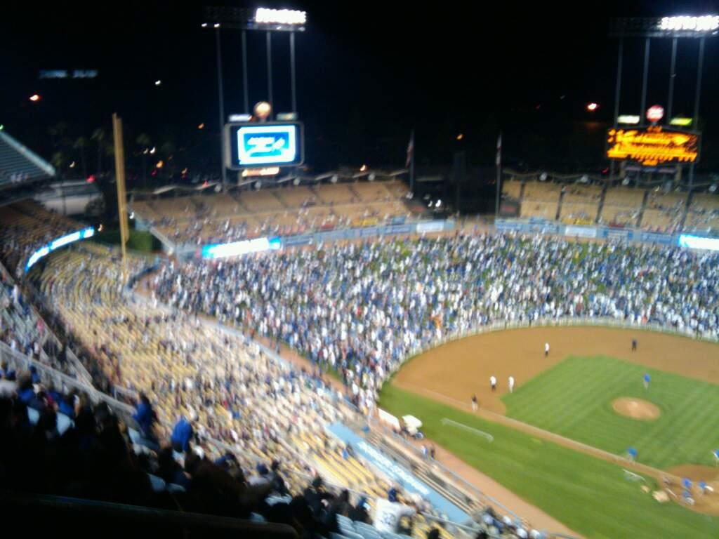 Dodger Stadium Section 7TD Row o Seat 23