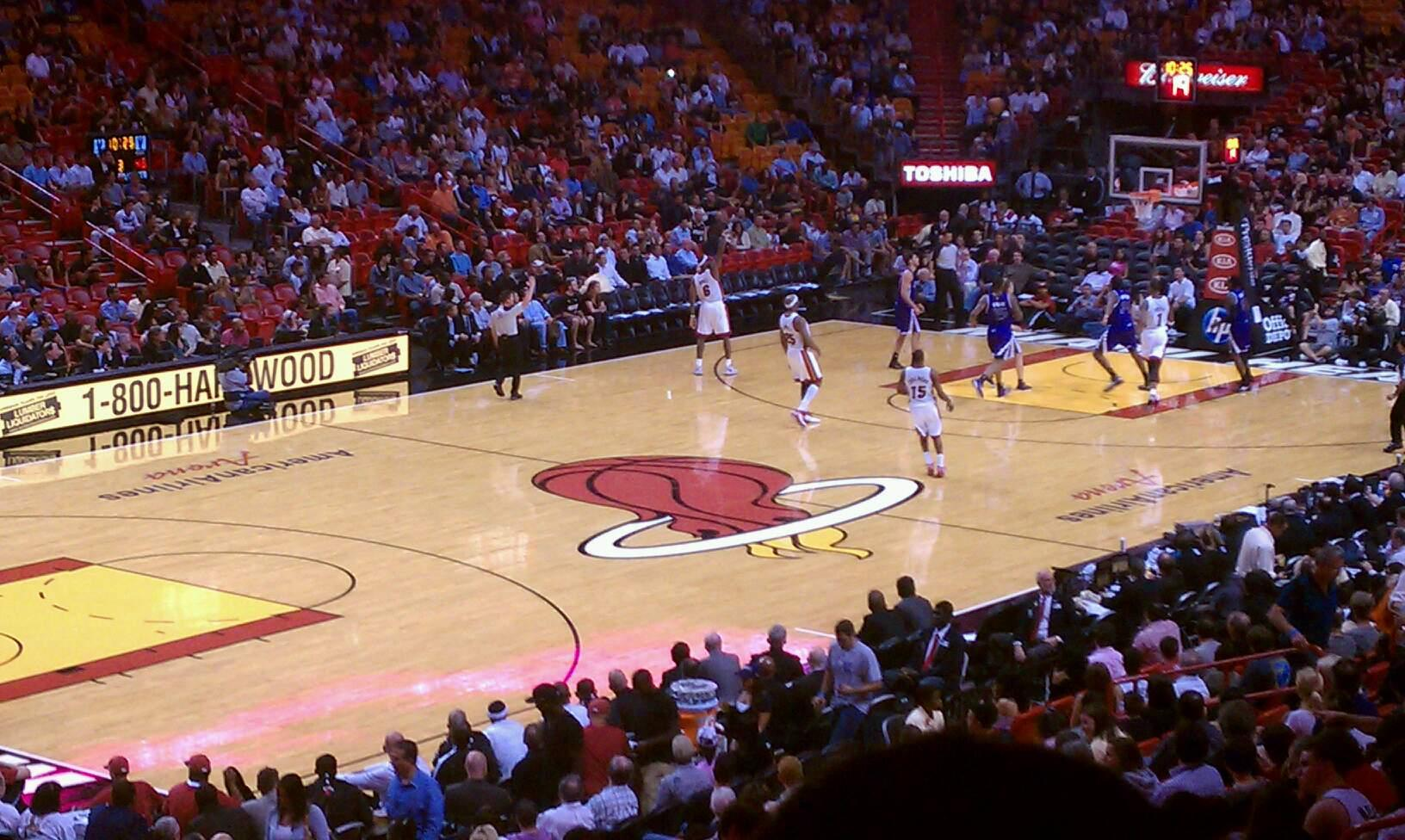 American Airlines Arena Section 110 Row 27 Seat 3
