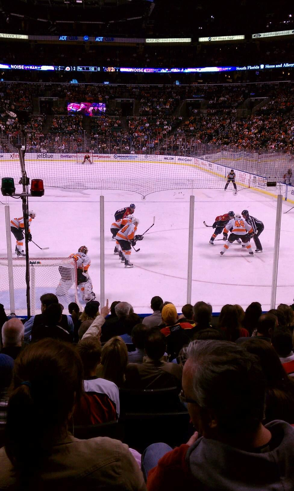 BB&T Center Section 125 Row 11 Seat 19