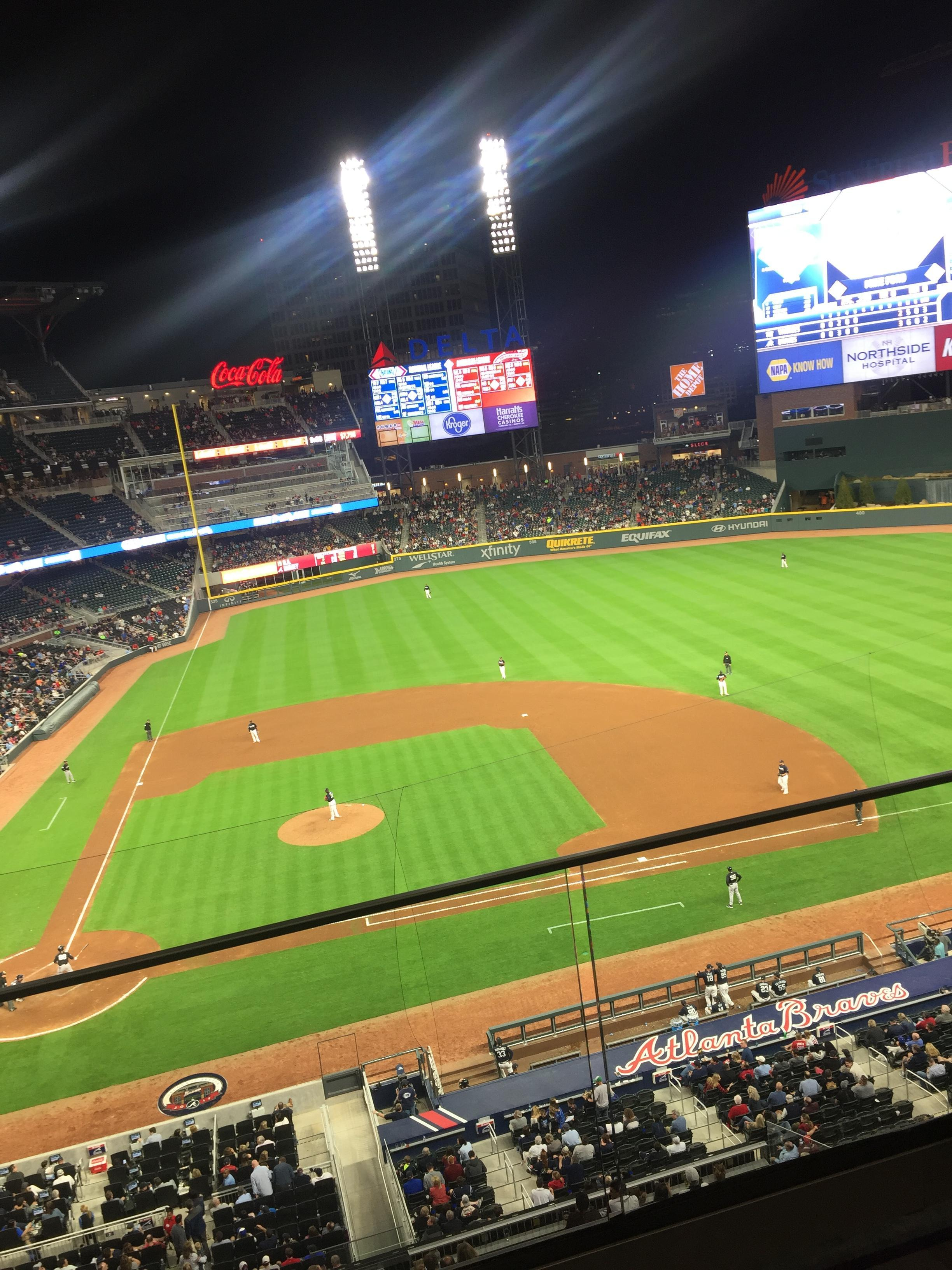 SunTrust Park Section 322 Row 2 Seat 4
