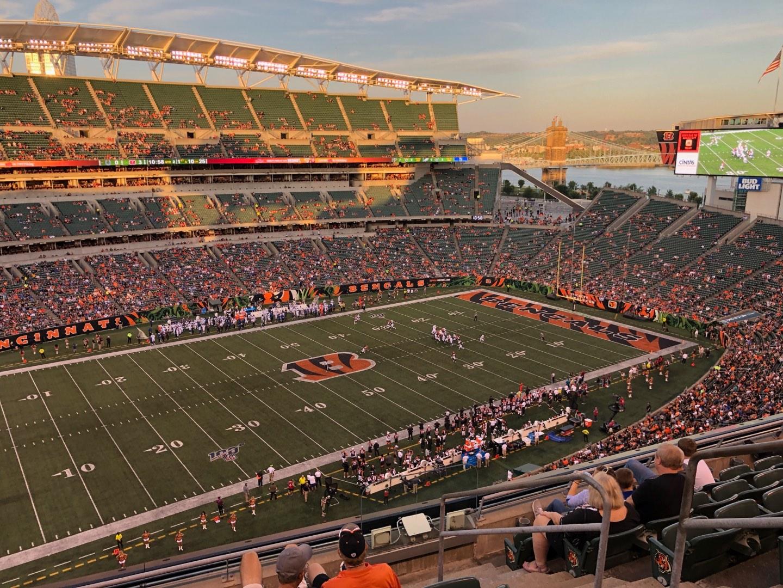 Paul Brown Stadium Section 314 Row 7 Seat 1
