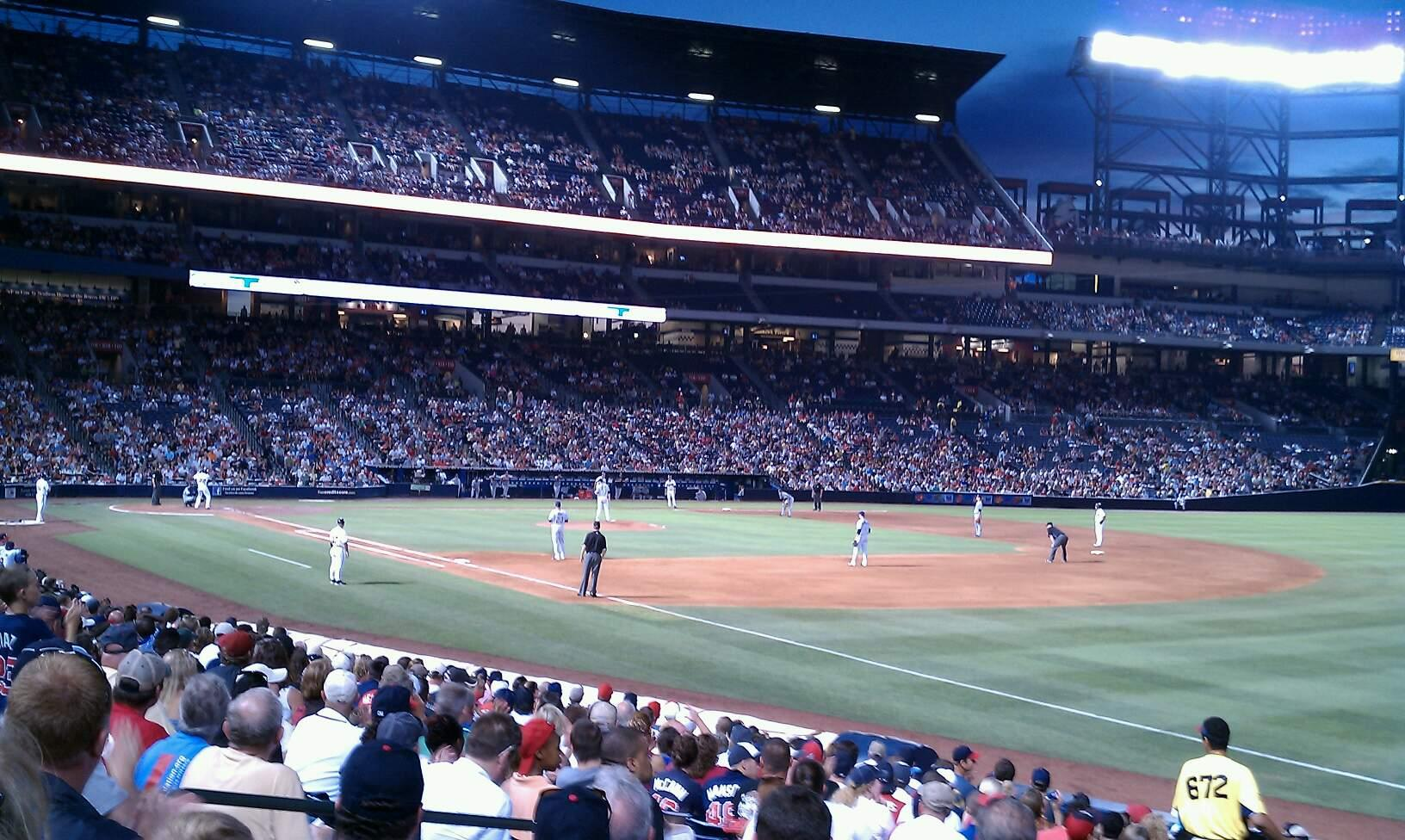 Turner Field Section 119 Row 25