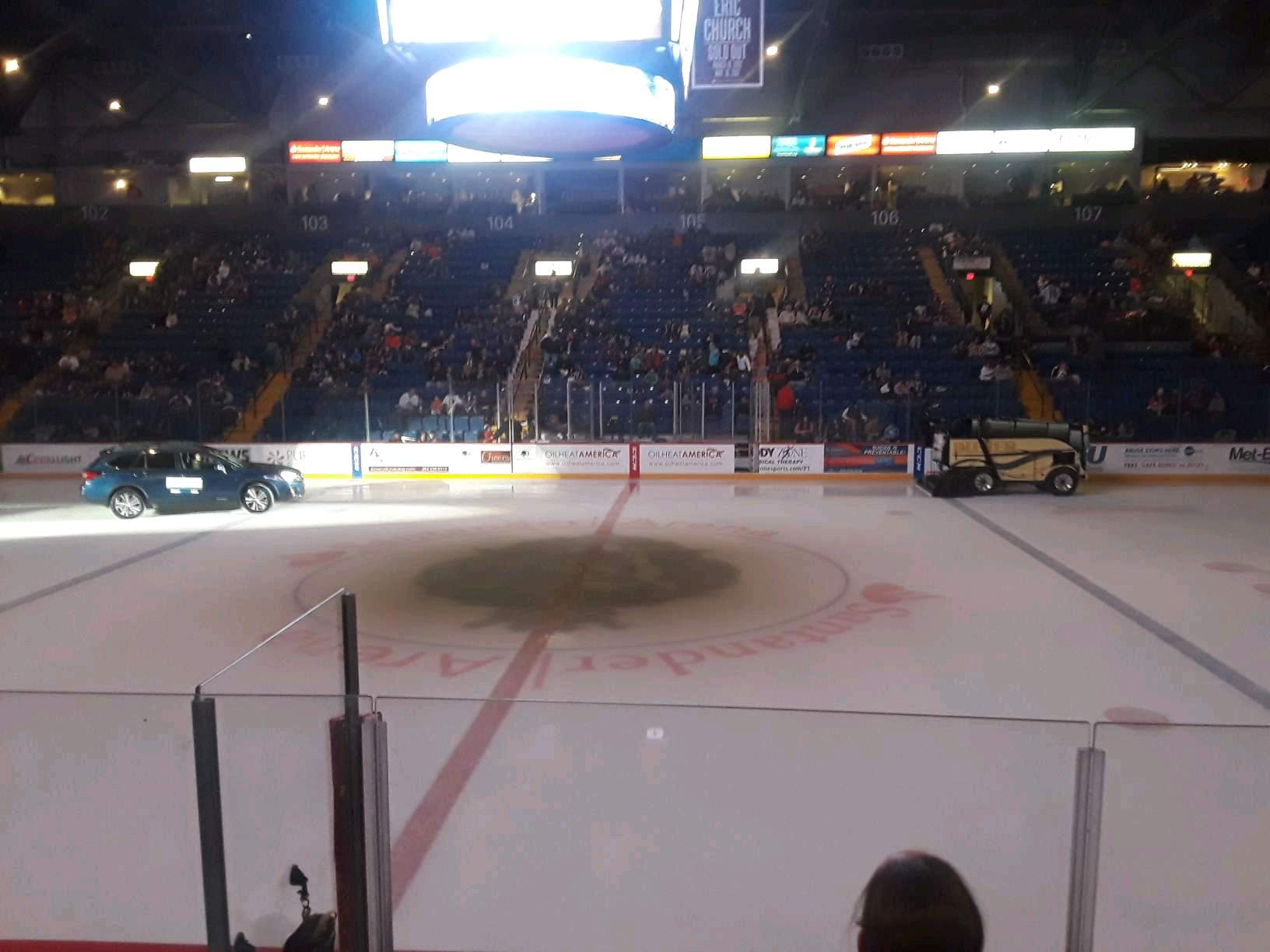 Santander Arena Section 117 Row F Seat 3