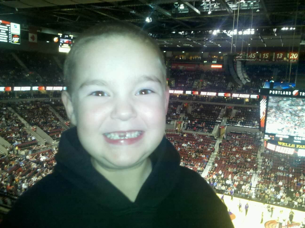 Moda Center Section 301 Row g Seat 10