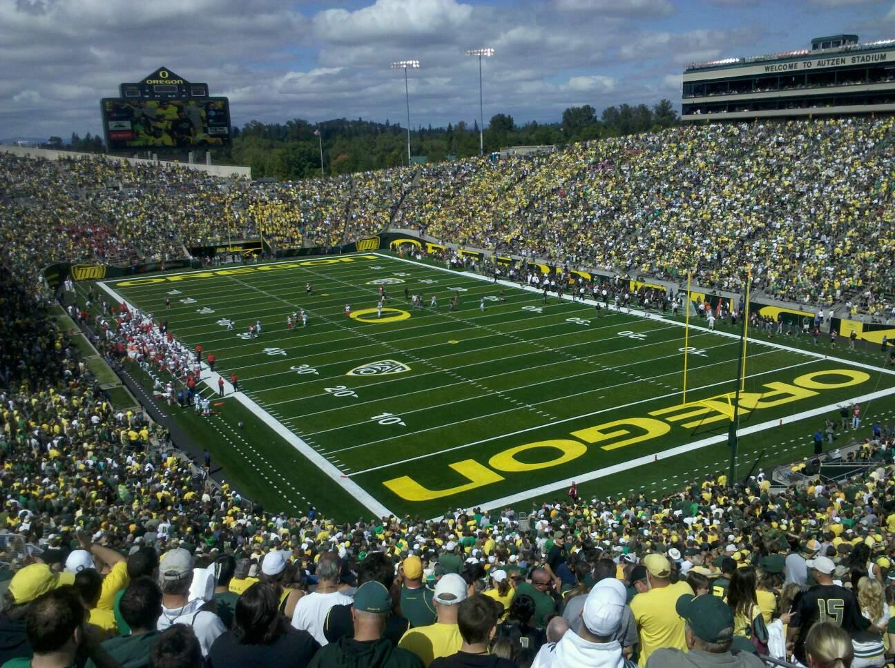 Autzen Stadium Section 24 Row 60 Seat 6