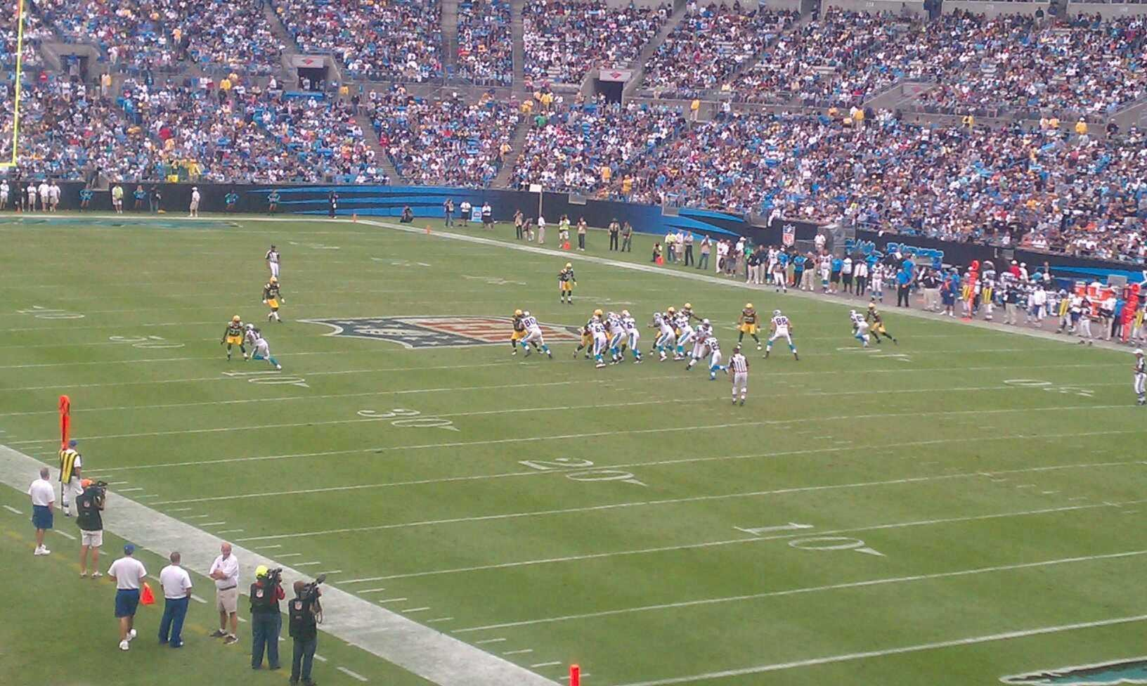 Bank of America Stadium Section 206 Row 6 Seat 2