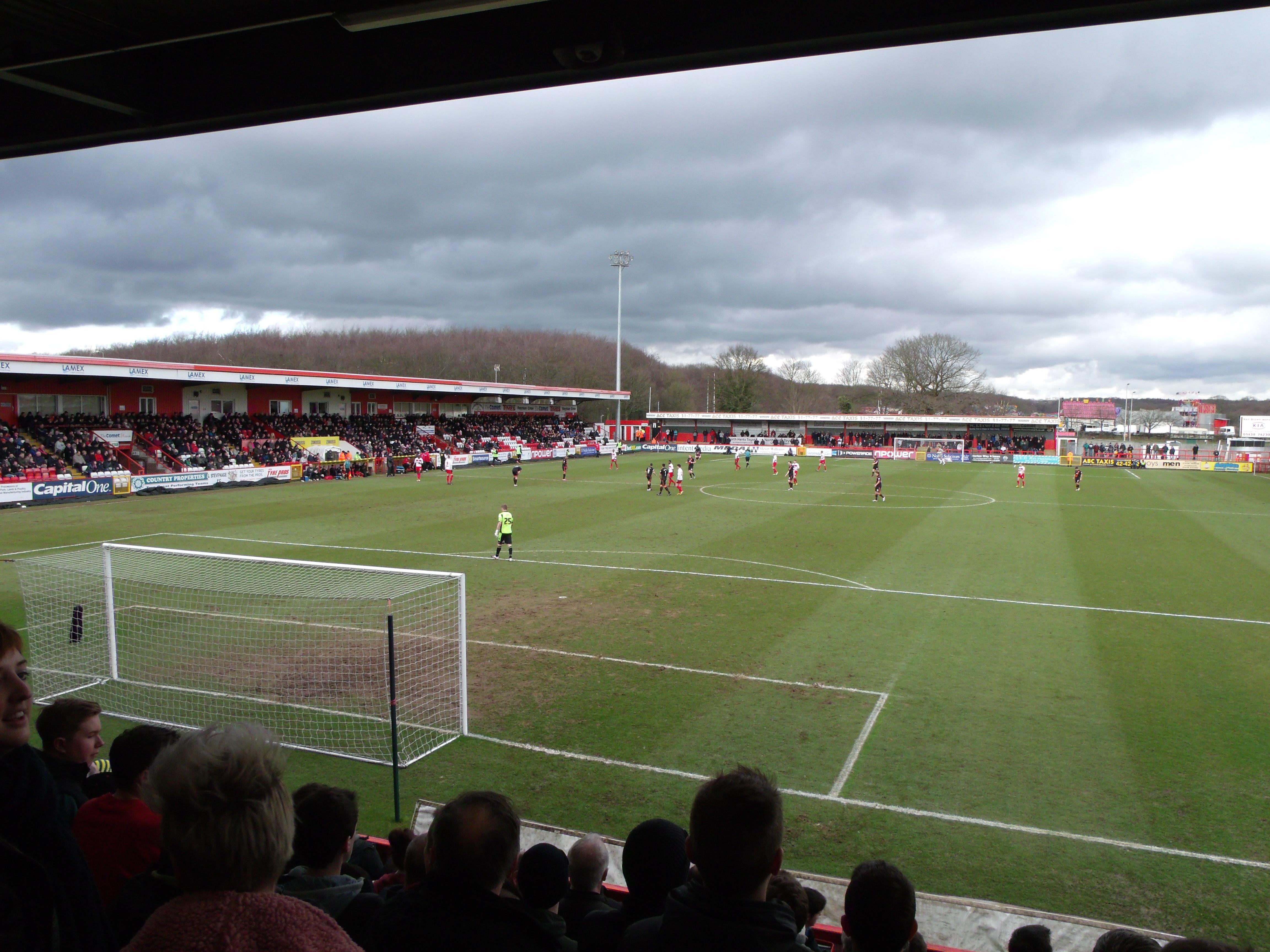 Away Stand B row K seat 32 - Stevenage F.C. vs Sheffield United