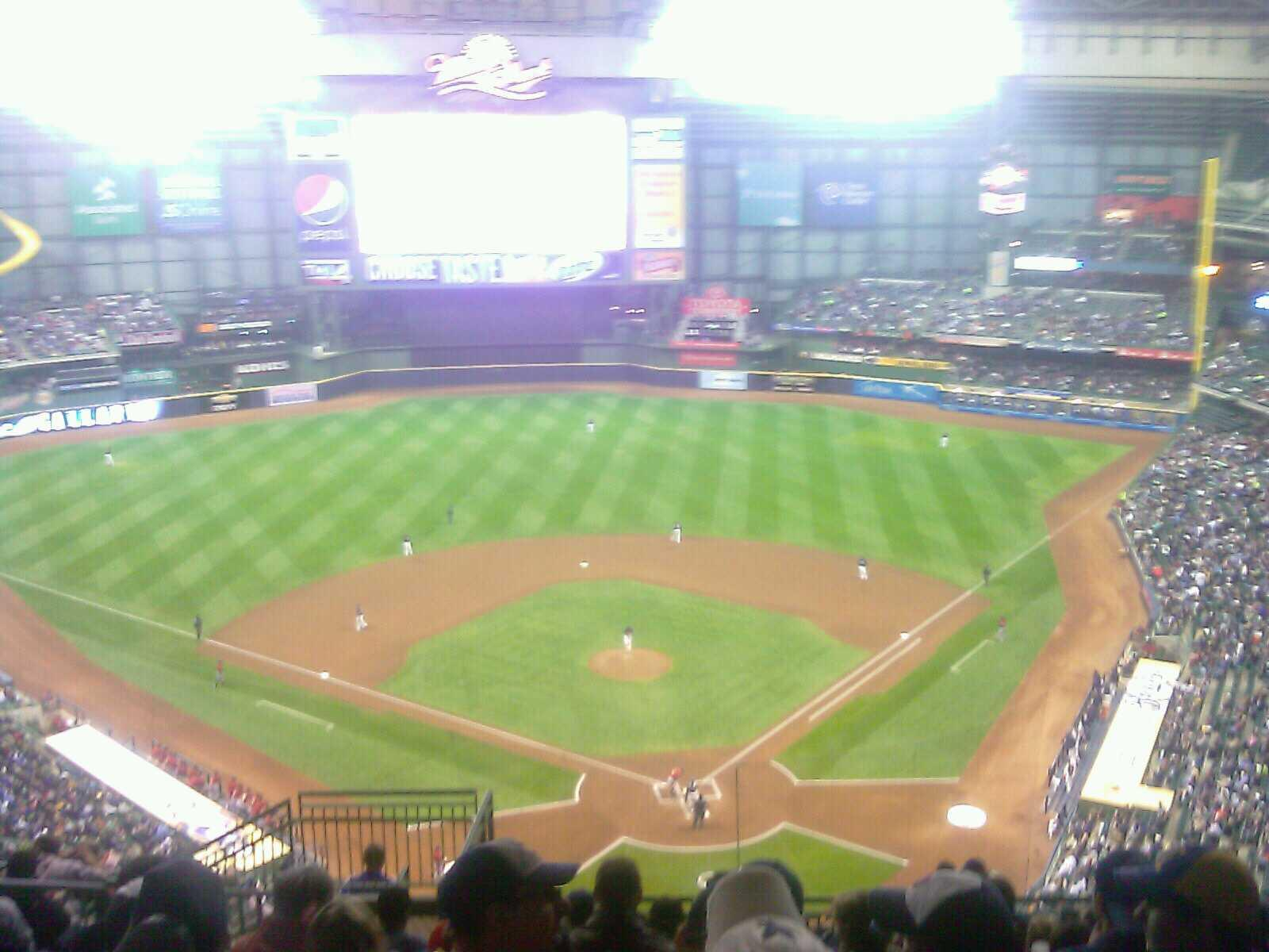 Miller Park Section 425 Row 25 Seat 8