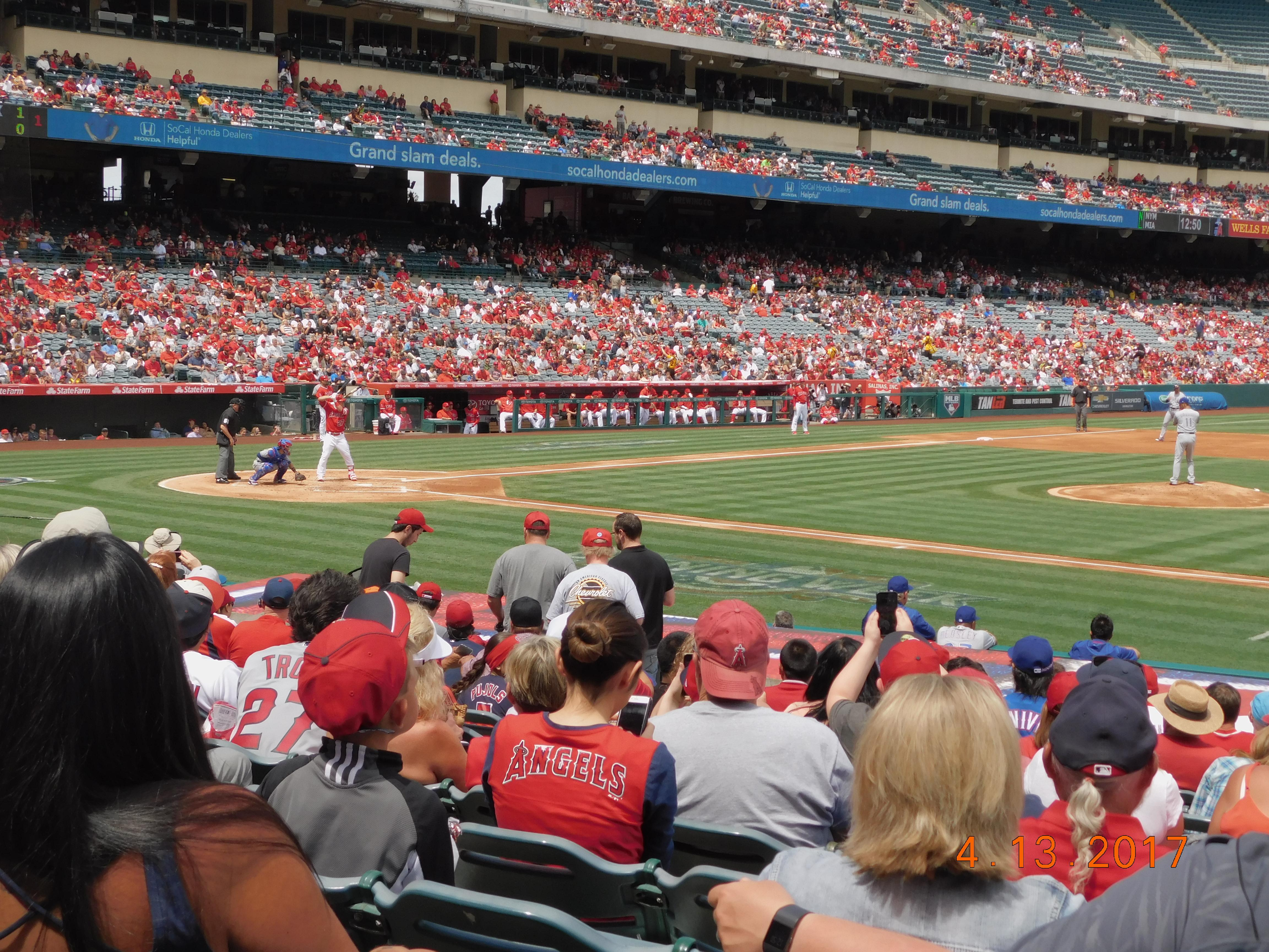 Angel Stadium Section F125 Row R Seat 11