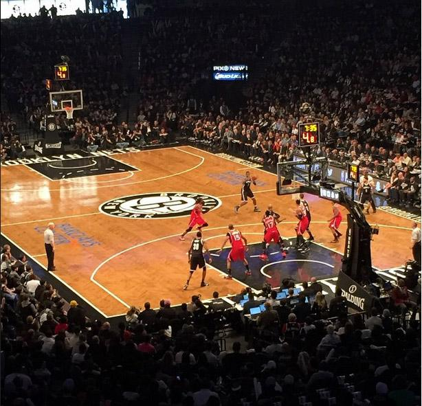Brooklyn Nets Seat View for Barclays Center Section 118, Row 8, Seat 6