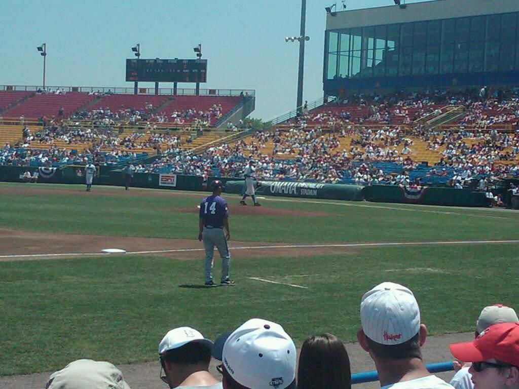 Rosenblatt Stadium Section 15 Row A Seat 1