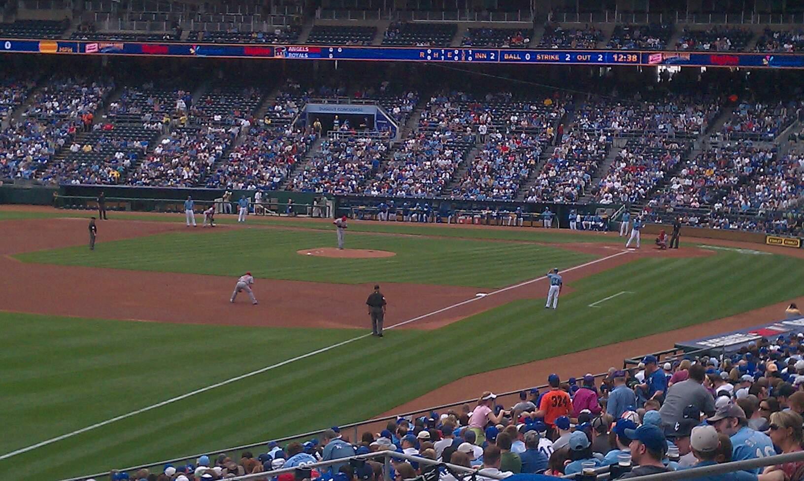 Kauffman Stadium Section 209 Row KK Seat 13