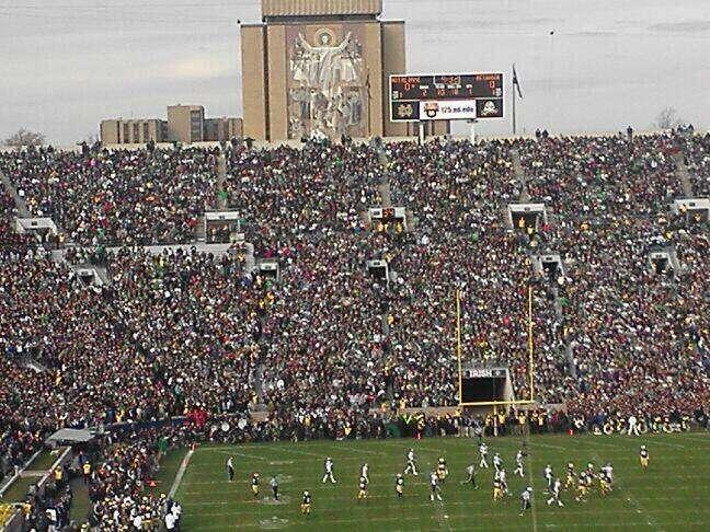 Notre Dame Football Notre Dame Stadium Seating Chart