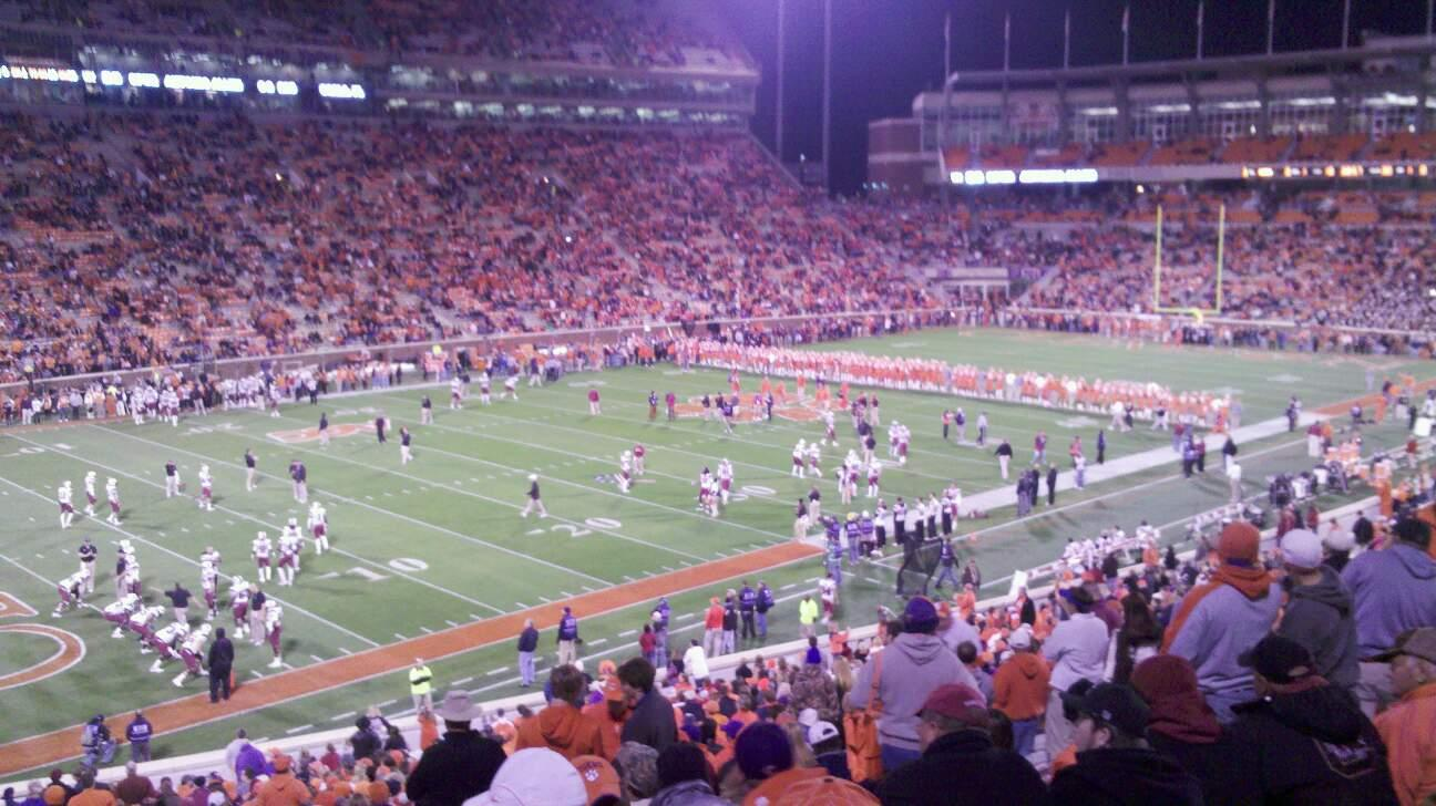 Memorial Stadium, Clemson Section K Row QQ Seat 27