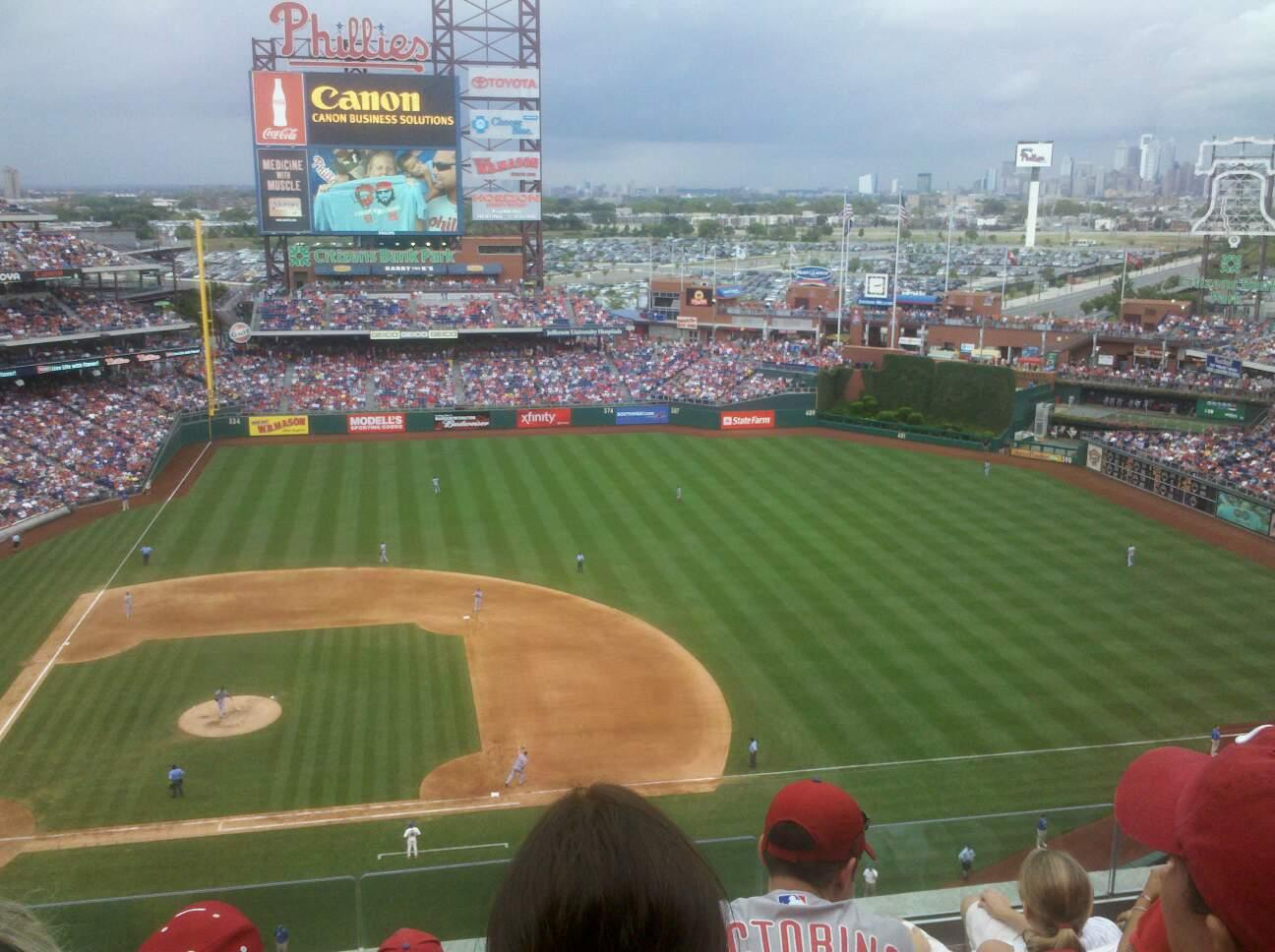 Citizens Bank Park Section 415 Row 5 Seat 15