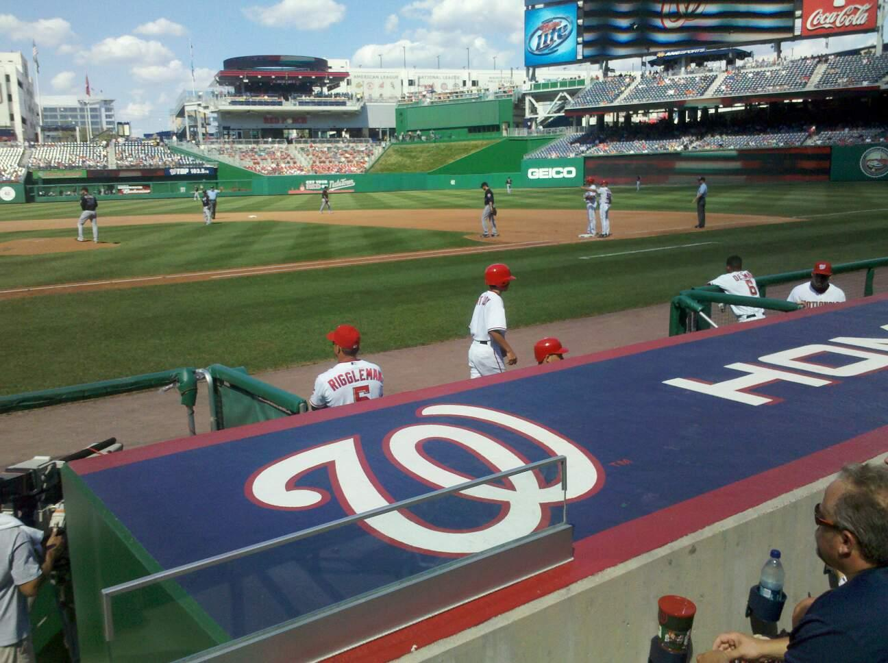 Nationals Park Section 129 Row F