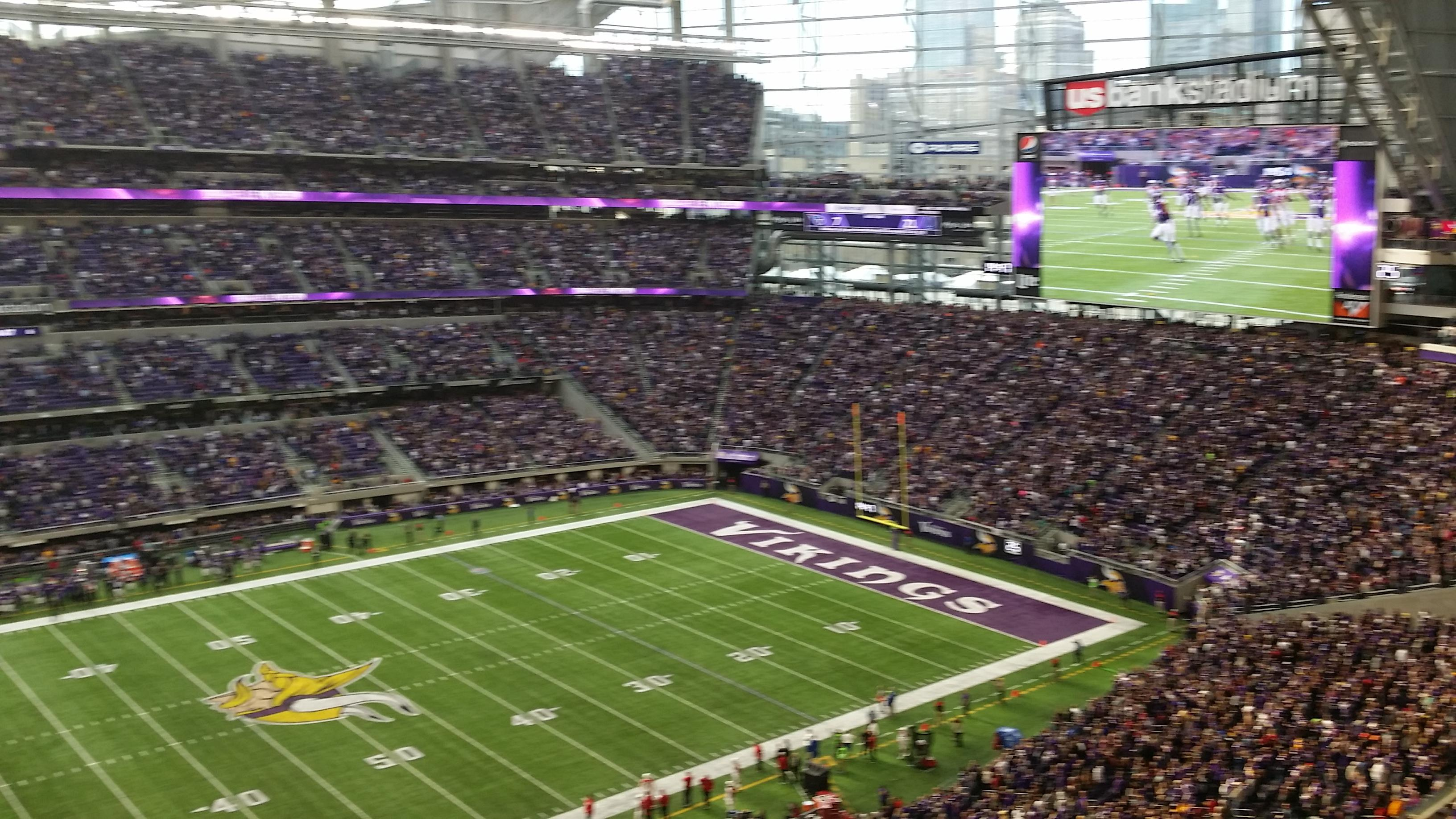 U.S. Bank Stadium Section 314 Row B Seat 20