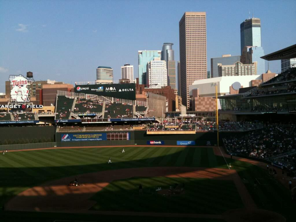 Target Field Section M Row 2 Seat 8