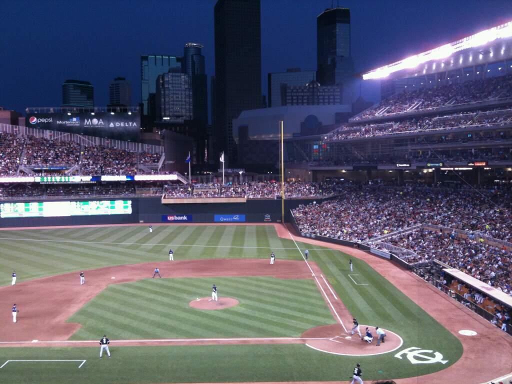 Target Field Section L Row 1 Seat 3