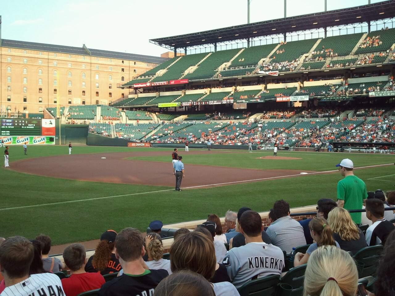 Oriole Park at Camden Yards Section 62 Row 8 Seat 11