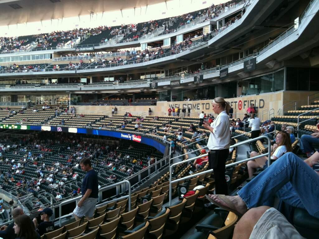 Target Field Section M Row 6 Seat 6