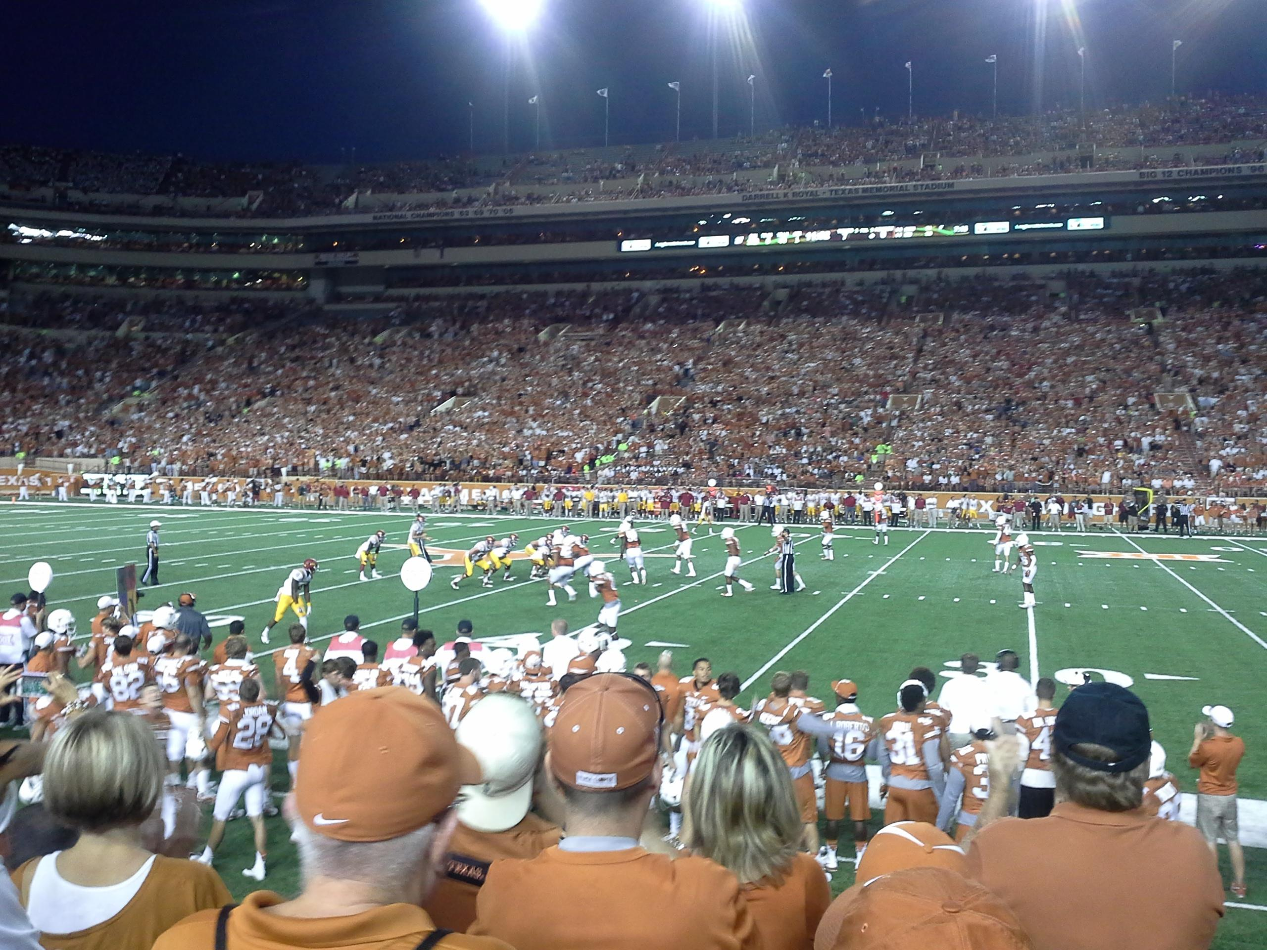 Texas Memorial Stadium Section 4 Row 5