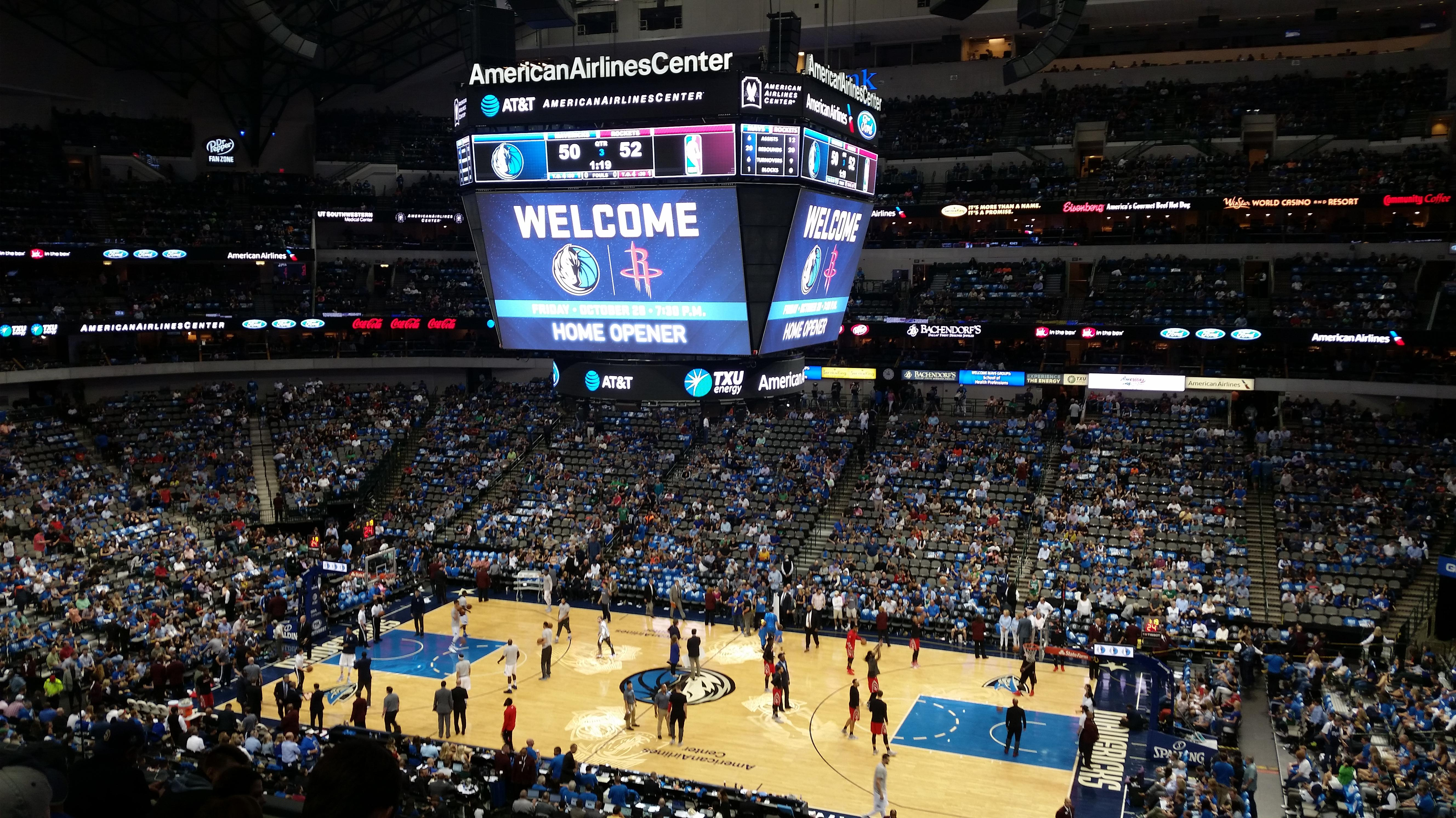 American Airlines Center Section 216 Row F Seat 5