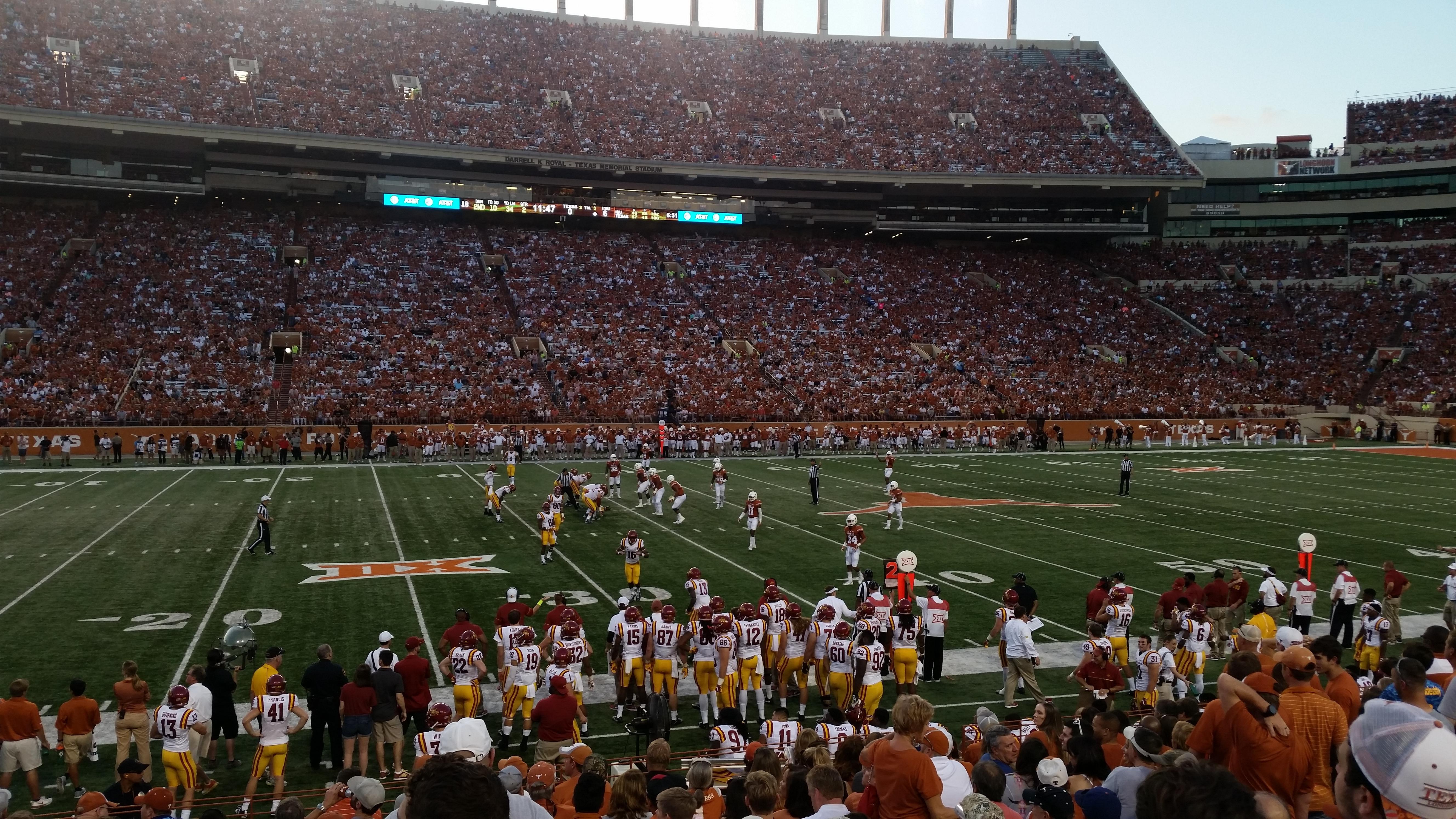 Texas Memorial Stadium Section 30 Row 14 Seat 9