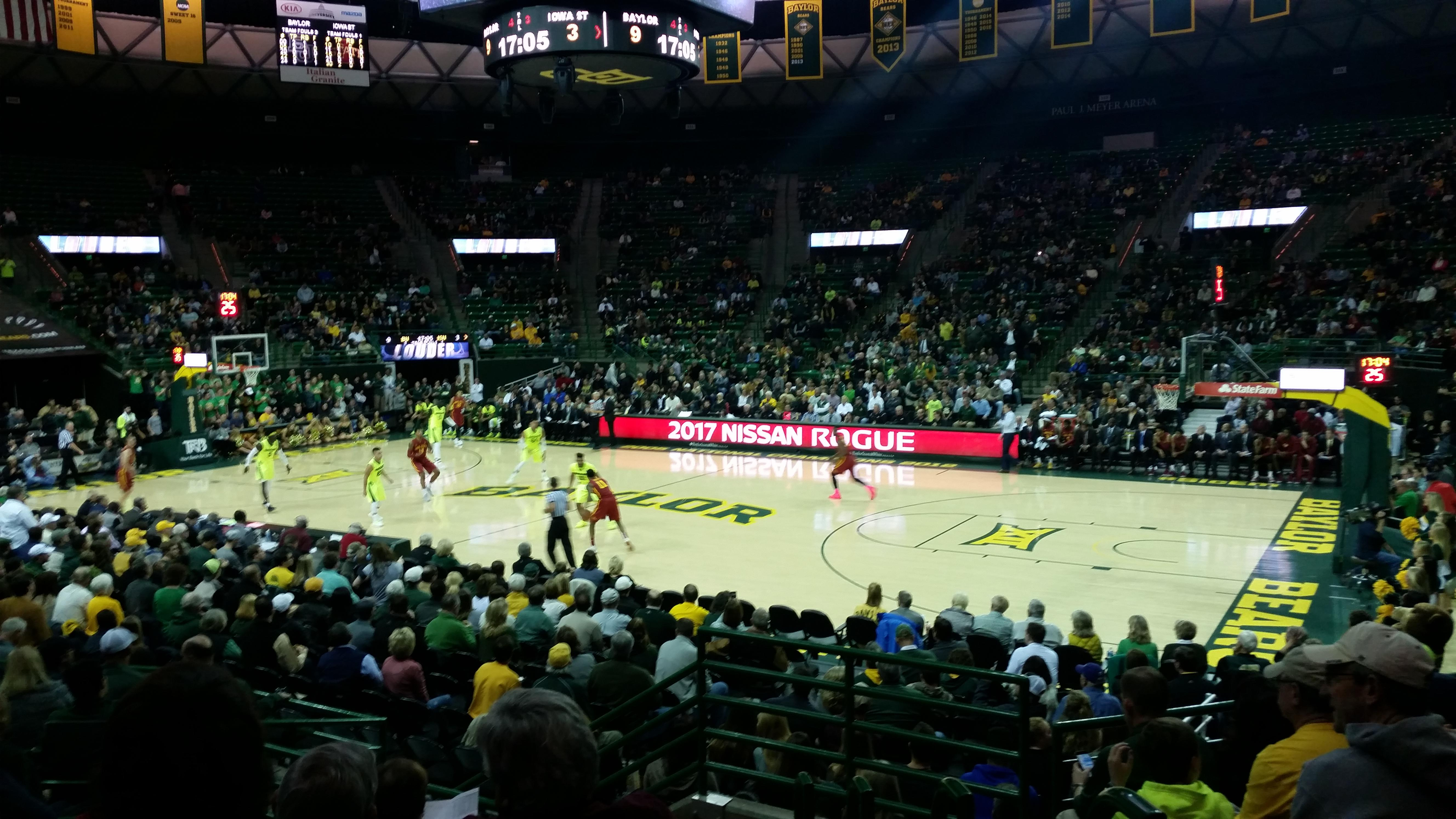 Ferrell Center Section 123 Row 12 Seat 3