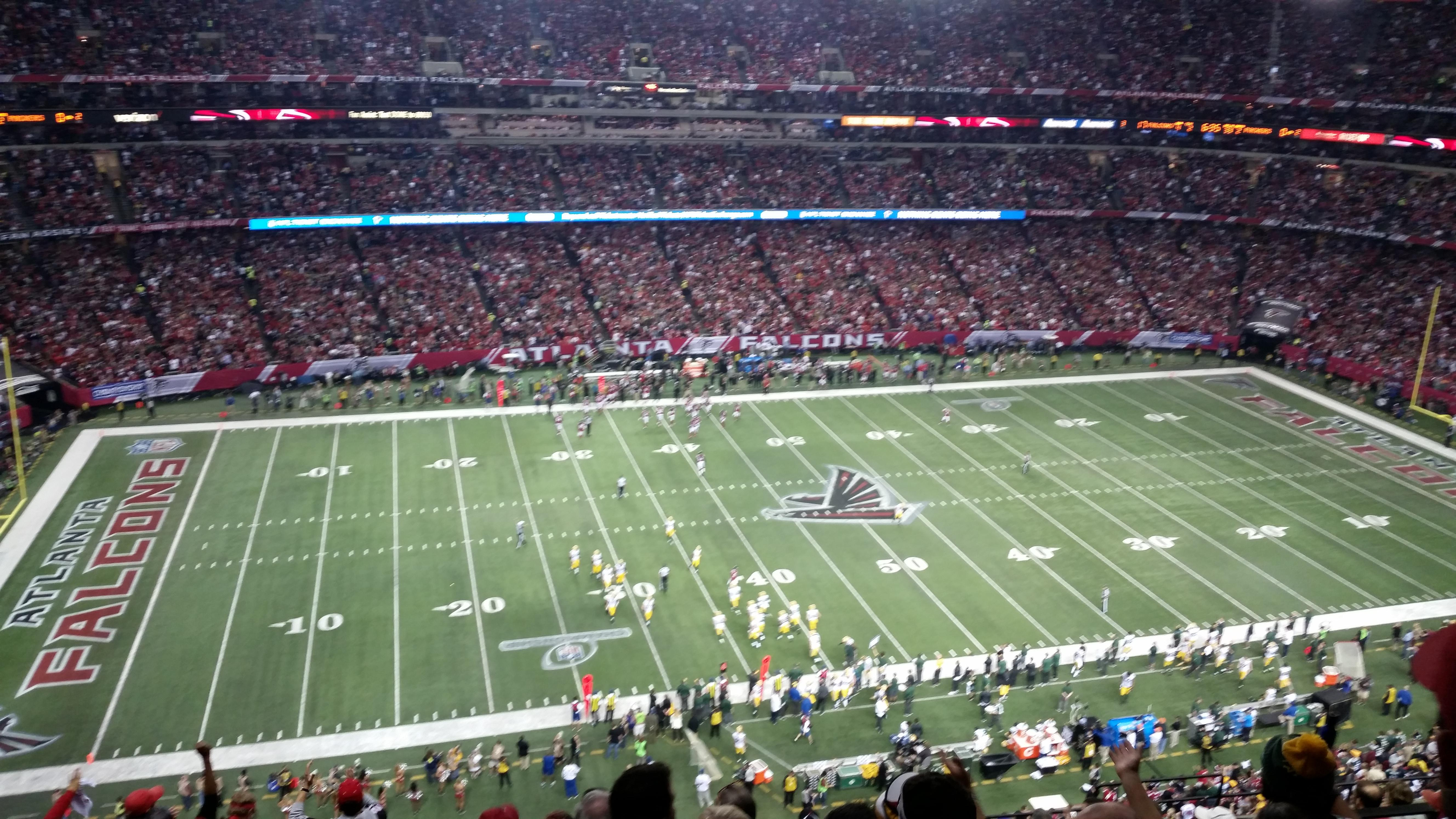 Georgia Dome Section 350 Row 11 Seat 14