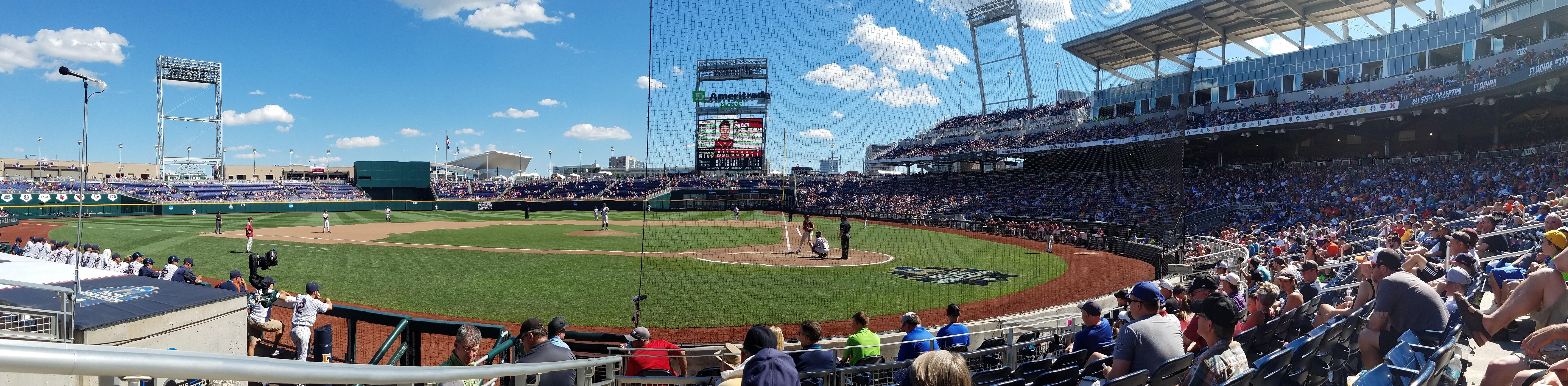 TD Ameritrade Park Section 114 Row 8 Seat 14