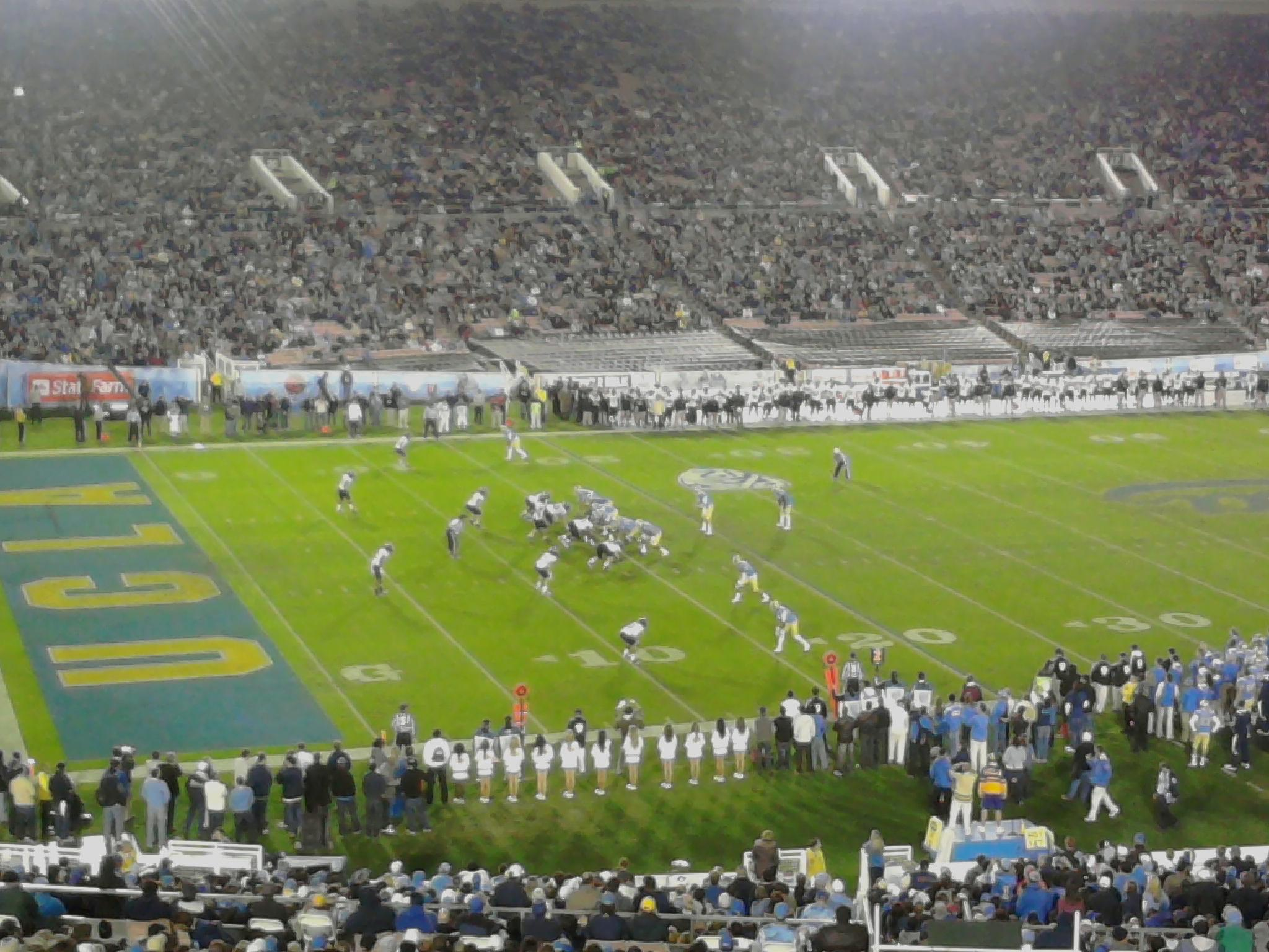 Rose Bowl Section 2-L Row 71 Seat 5