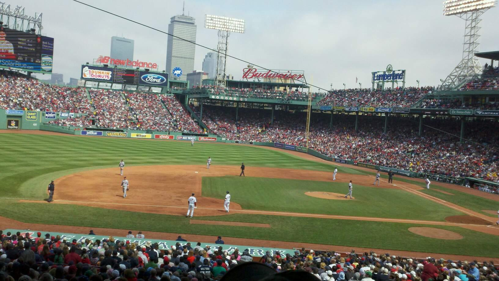 Fenway Park Section Grandstand 26 Row 10 Seat 12