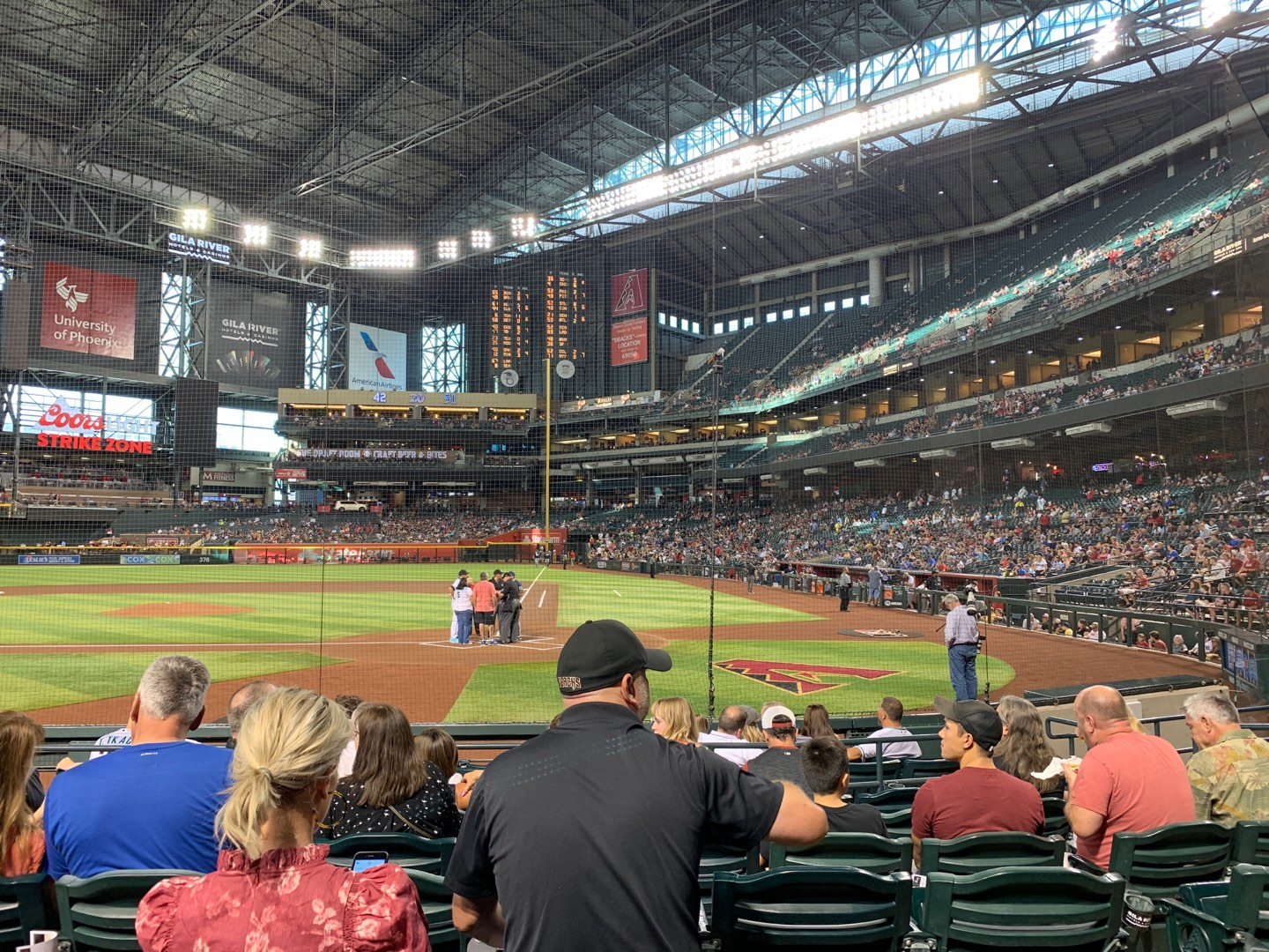 Chase Field Section L Row H Seat 10