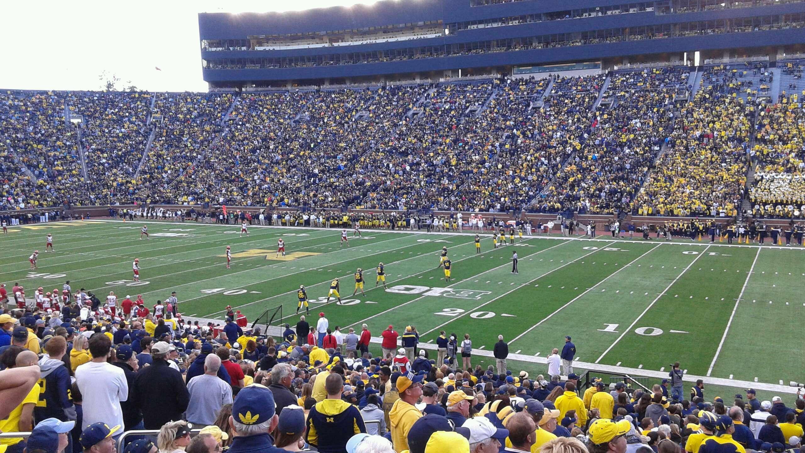Michigan Stadium Section 42 Row 35 Seat 24