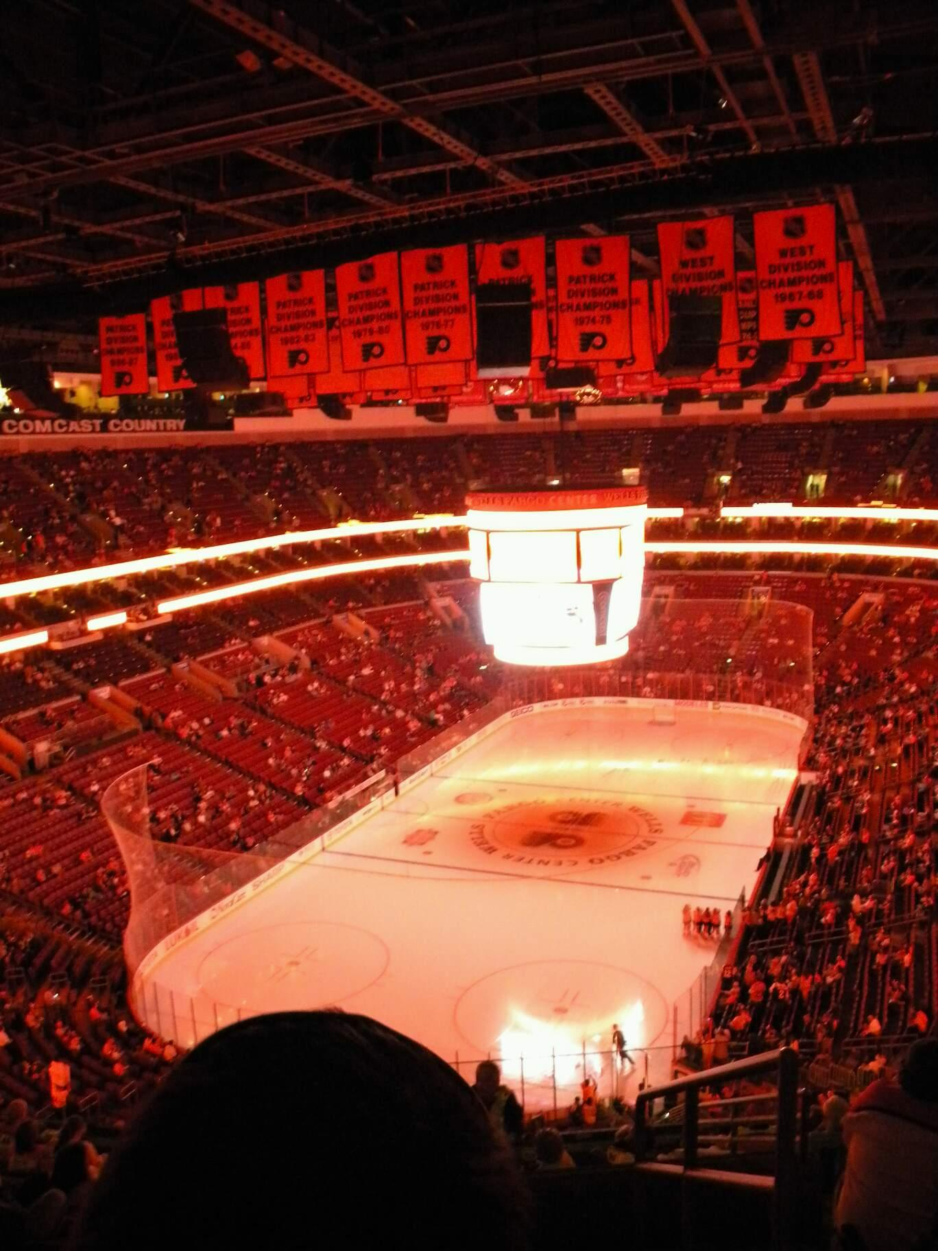 Wells Fargo Center Section 109 Row 12 Seat 8