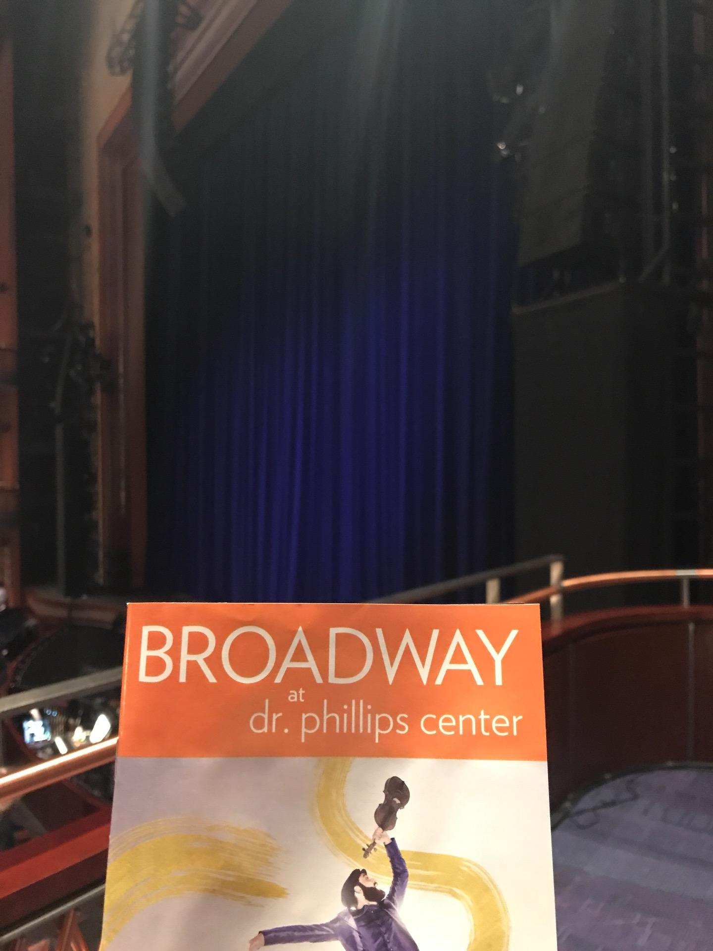 Walt Disney Theatre - Dr. Phillips Center Section Box Row Box 2 Seat 2