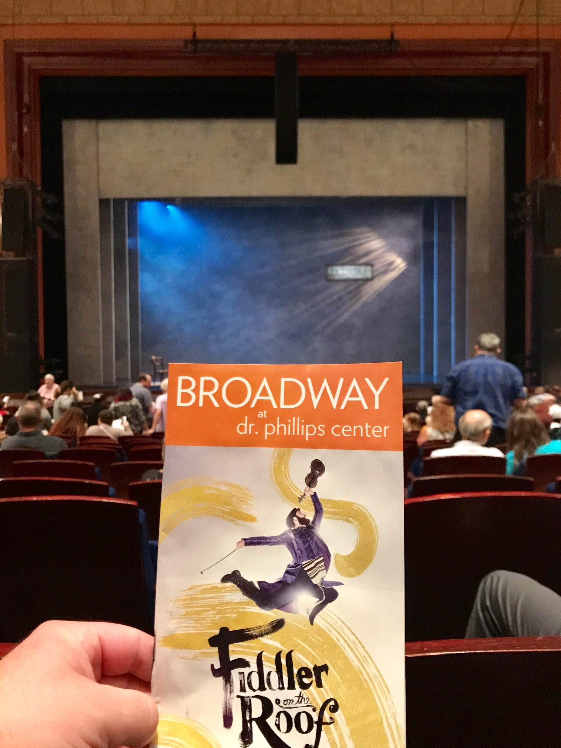 Walt Disney Theatre - Dr. Phillips Center Section Lower Orchestra, Center Row P Seat 109