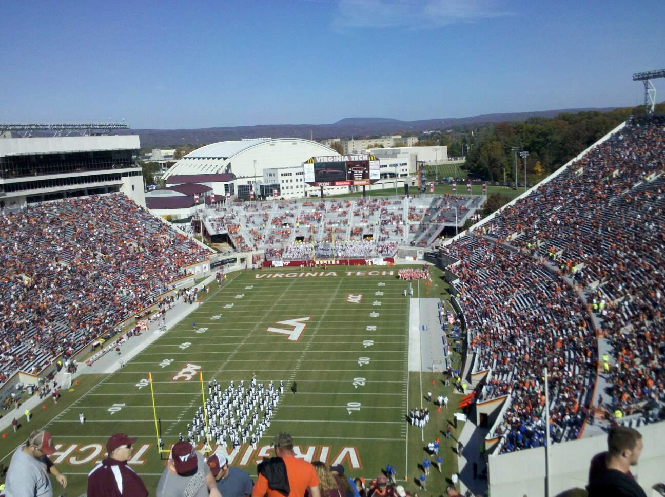 Lane Stadium Section 503 Row DD Seat 23