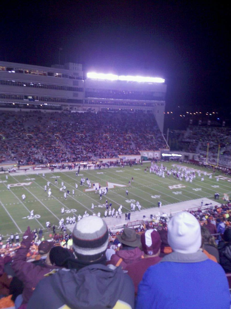 Lane Stadium Section 37 Row 4G Seat 22