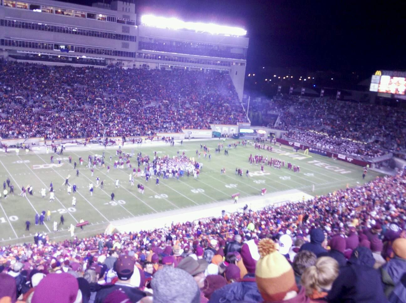 Lane Stadium Section 37 Row 4G Seat 22
